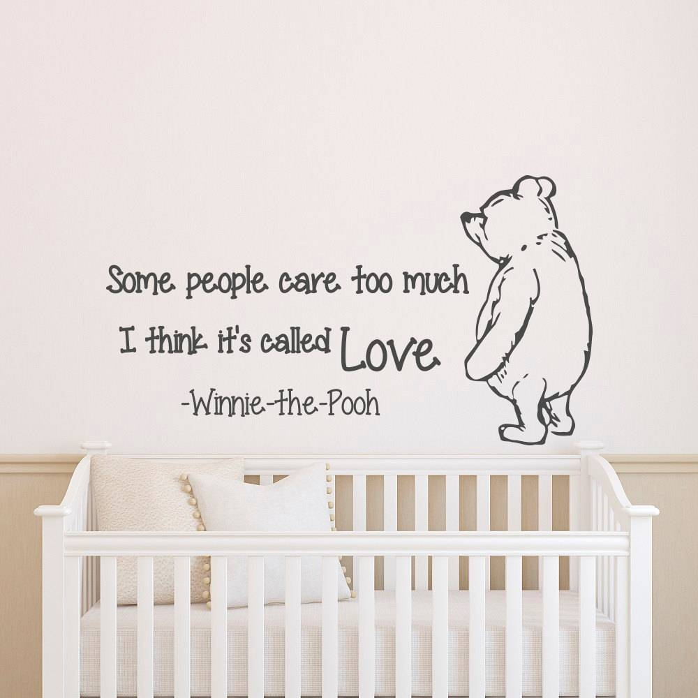 Wall Decals Quotes Winnie The Pooh Wall Decal Quote Some Throughout Current Winnie The Pooh Nursery Quotes Wall Art (View 18 of 20)
