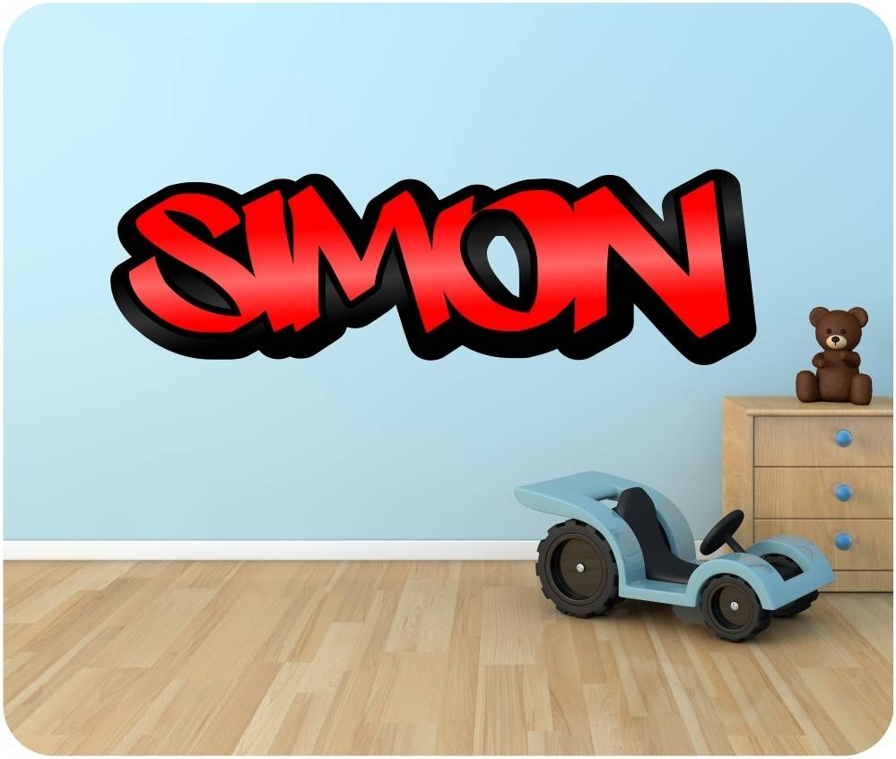 Wall Decals: Winsome Graffiti Name Wall Decals (View 8 of 30)