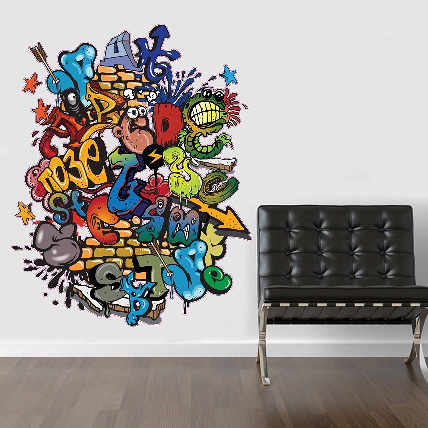 Wall Decals: Winsome Graffiti Name Wall Decals (View 3 of 30)