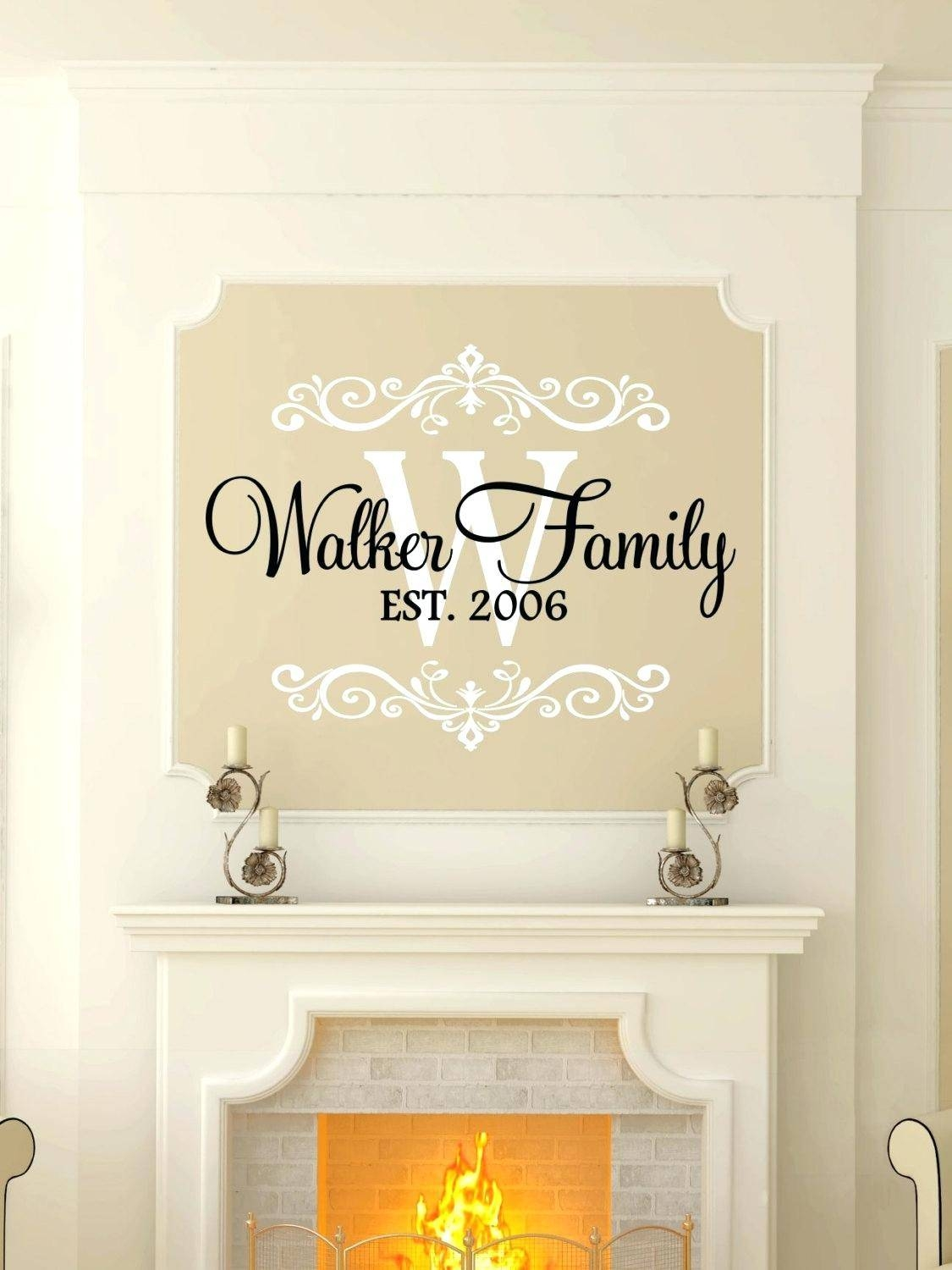 Wall Decor : 112 Zoom Family Name Wall Decor Excellent Zoom In Most Current  Personalized Last