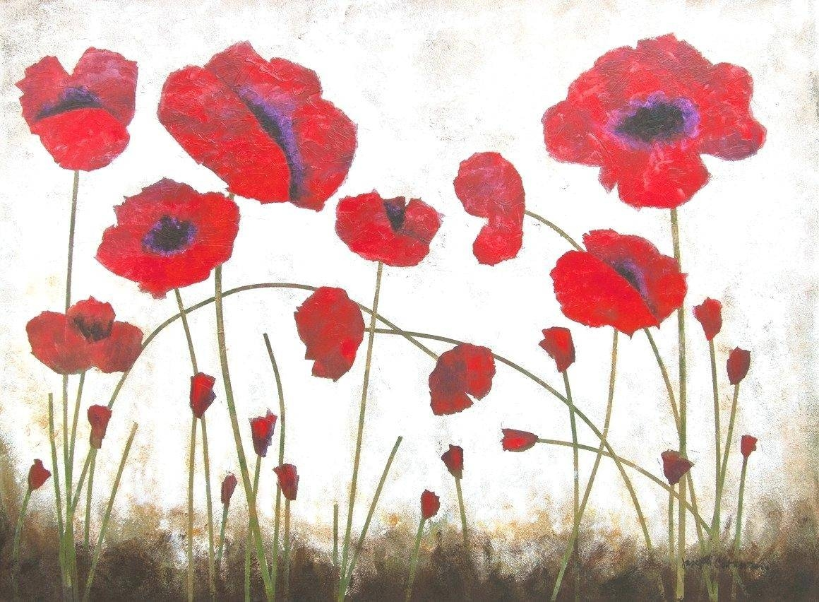 Wall Decor : 12 Red Poppy Wall Decor Papaver Somniferum Poppy Throughout Current Metal Poppy Wall Art (View 6 of 30)