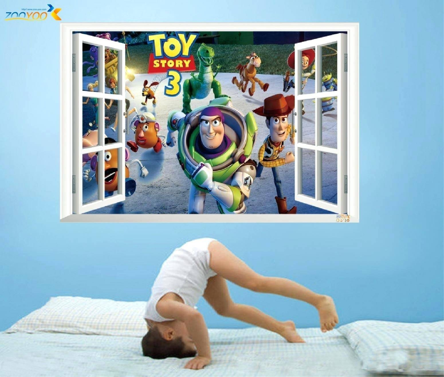 Wall Decor : 140 Charming Cute Buzz Lightyear Toy Story Stickers3d Inside 2017 Toy Story Wall Stickers (View 9 of 25)
