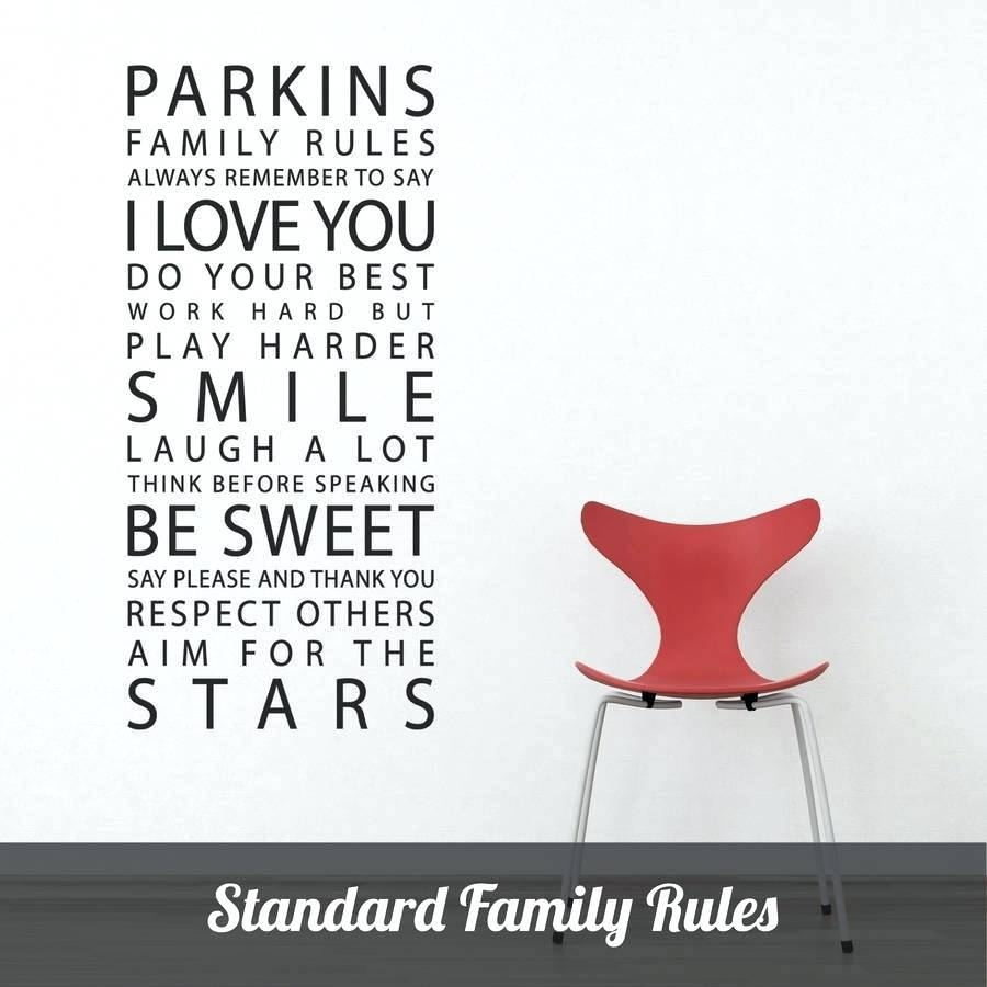 Wall Decor : 26 Wall Decor Beautiful Family Rules Wall Art Family Intended For Current Personalized Family Wall Art (View 4 of 20)