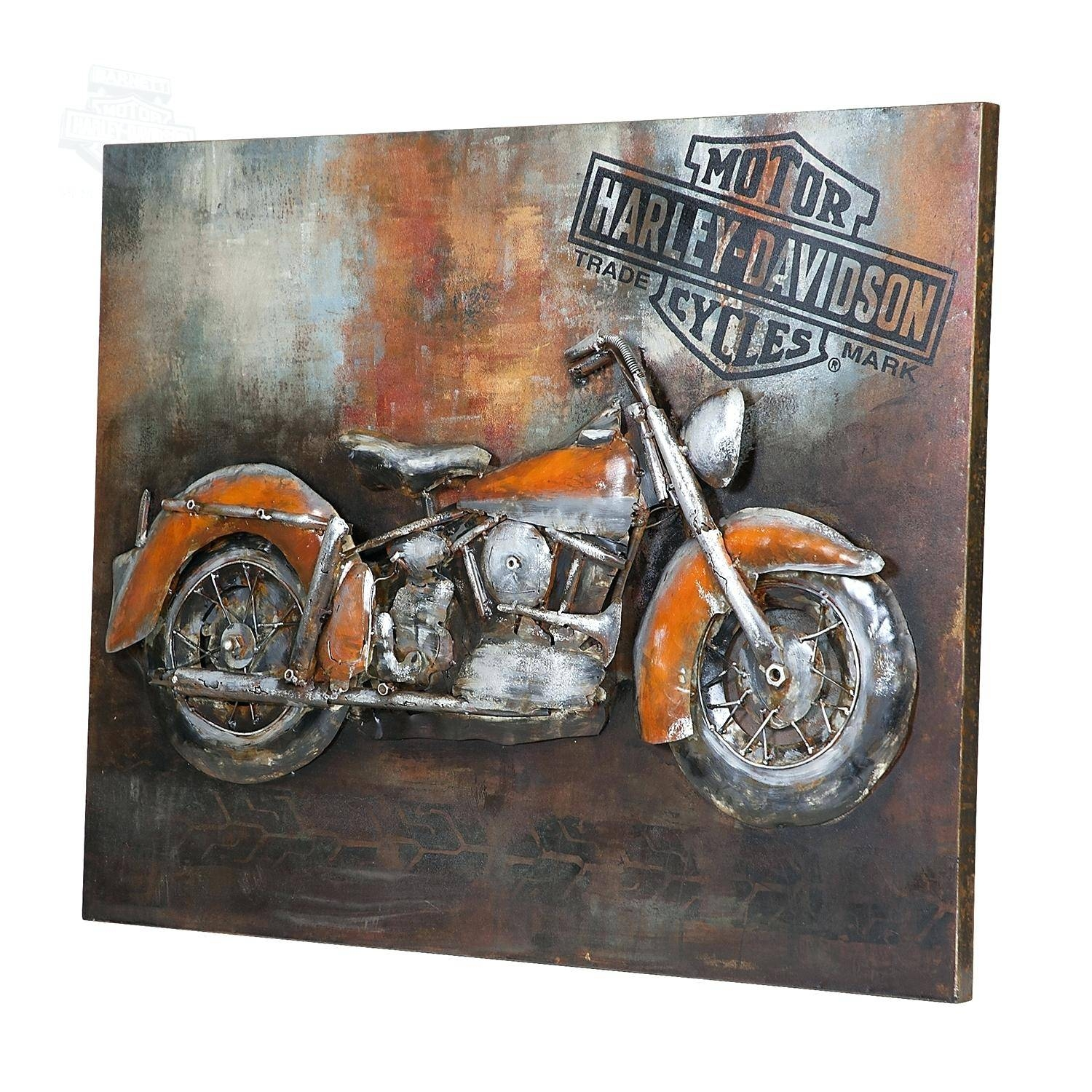Wall Decor : 40 Jute Print Harley Davidson 3D Wall Art Harley With Most Up To Date 3D Metal Wall Art (View 18 of 20)