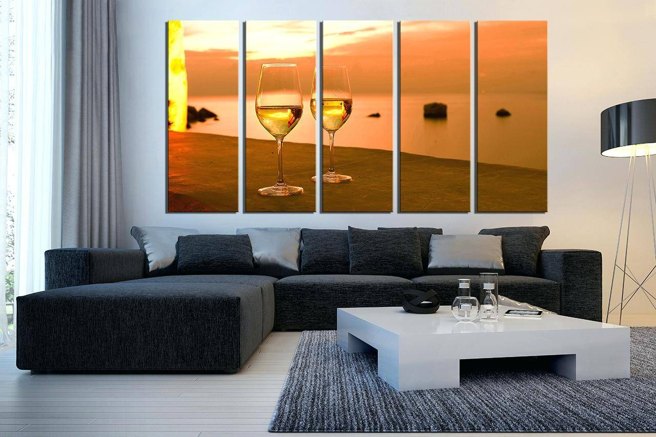 Wall Decor : 5 Piece Canvas Wall Art Bedroom Decor Wine Multi Intended For Best And Newest Multiple Piece Canvas Wall Art (Gallery 5 of 25)