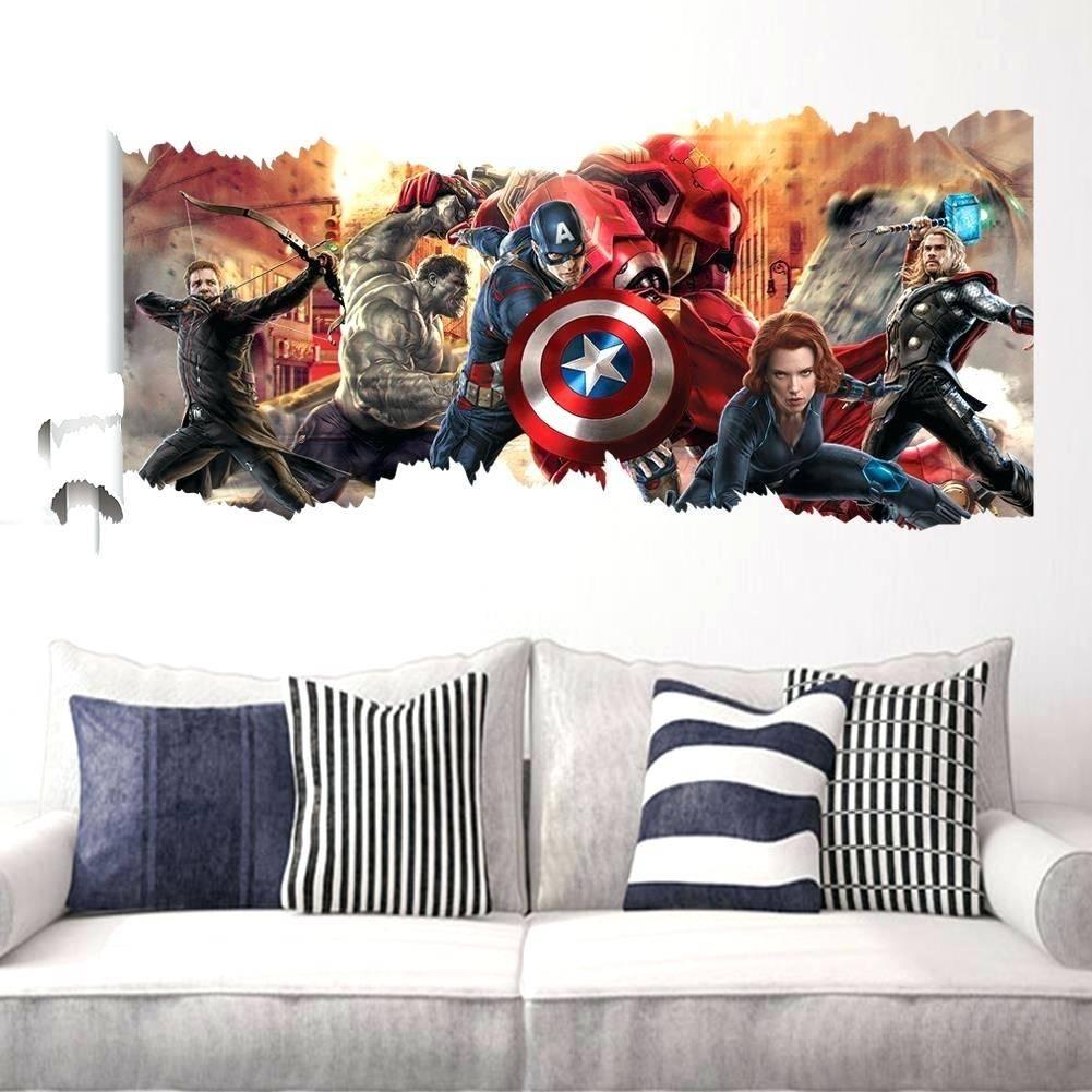 Wall Decor : 54 Avengersaar The Avengers 3D Wall Art Nightlight Pertaining To Most Recent Marvel 3D Wall Art (View 16 of 20)