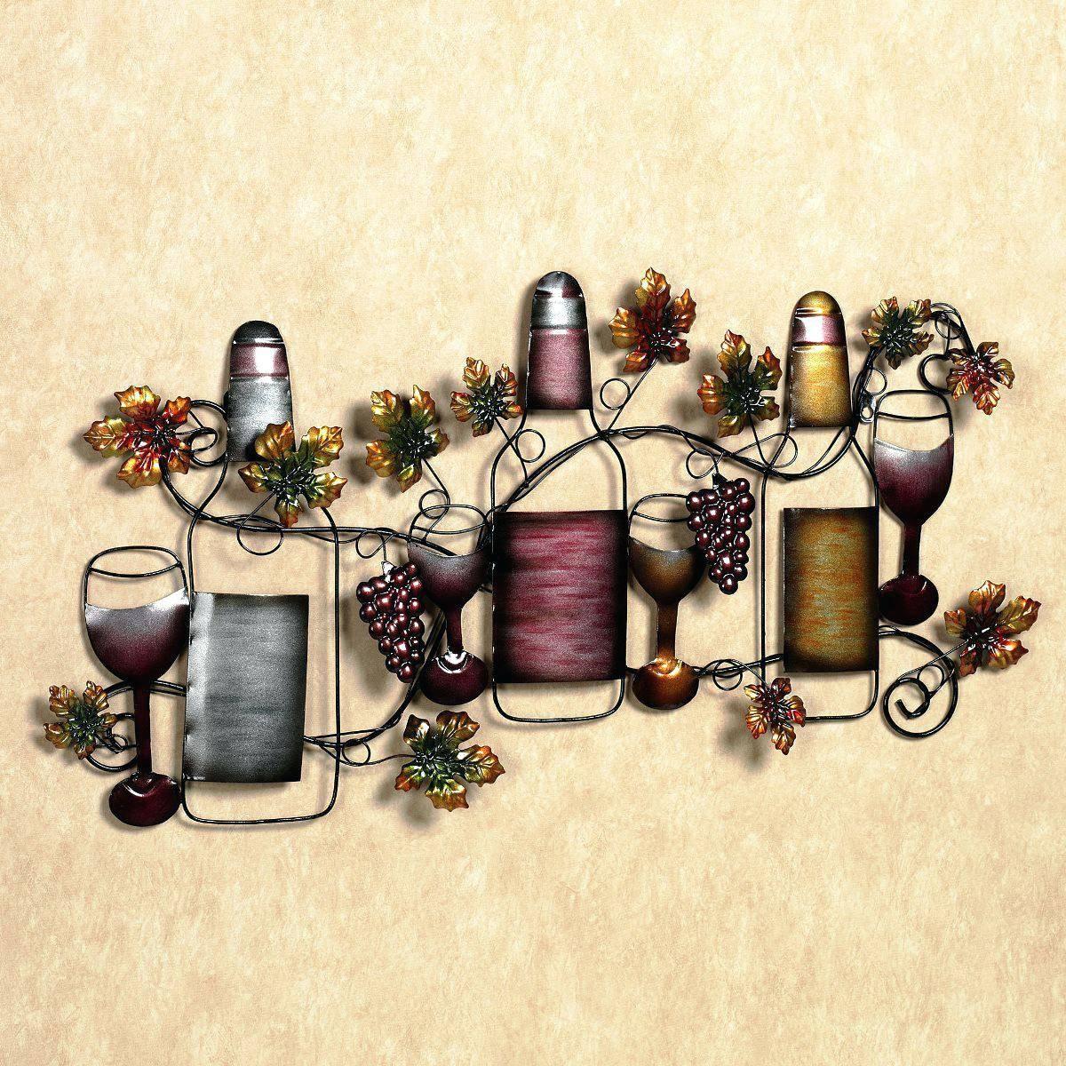Wall Decor : 70 Mesmerizing Wine Metal Wall Art Decor Metal Wine With Newest Wine Metal Wall Art (View 17 of 20)