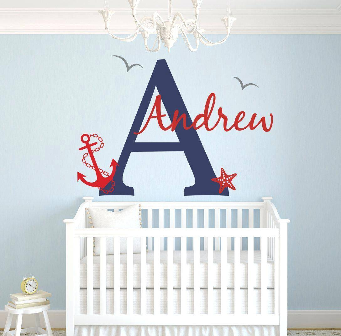 Wall Decor : 91 Custom Family Name Monogram Vinyl Decal Monogram Inside Most Current Baby Name Wall Art (View 17 of 25)