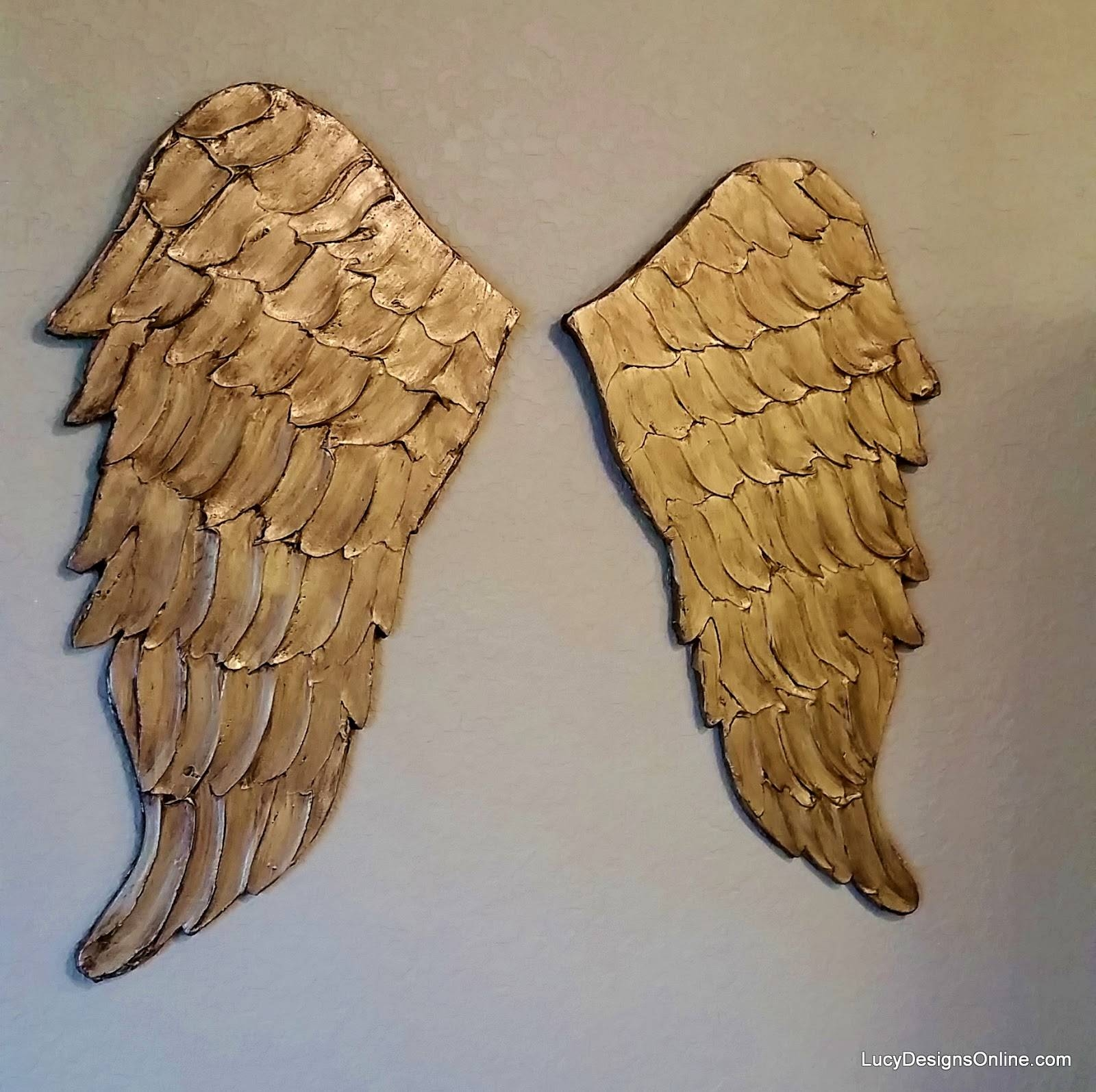 Wall Decor: Amazing Gold Angel Wings Wall Decor Angel Wings Party For Most Current Angel Wings Sculpture Plaque Wall Art (View 19 of 20)