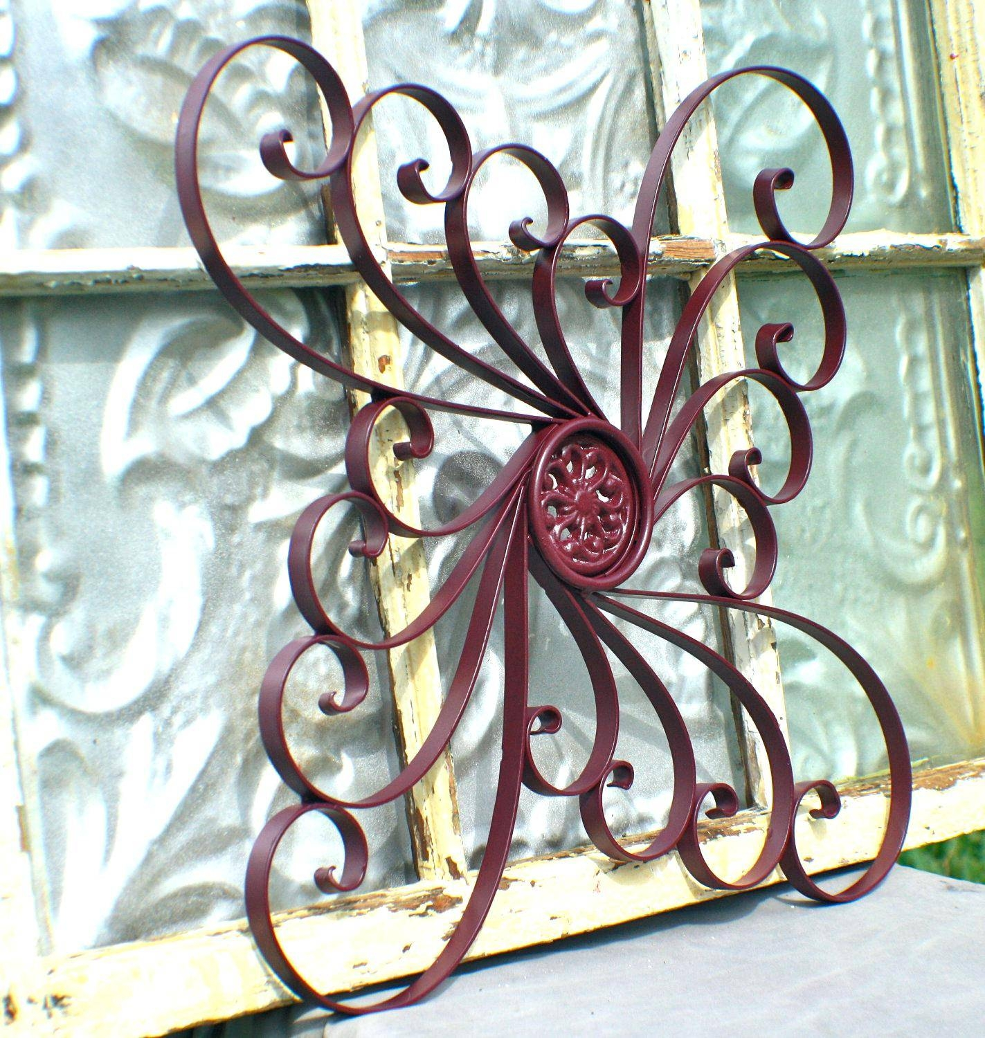 Wall Decor : Amazing Terrific Outside Wall Art Decorating Ideas Inside Current Wrought Iron Garden Wall Art (View 18 of 25)