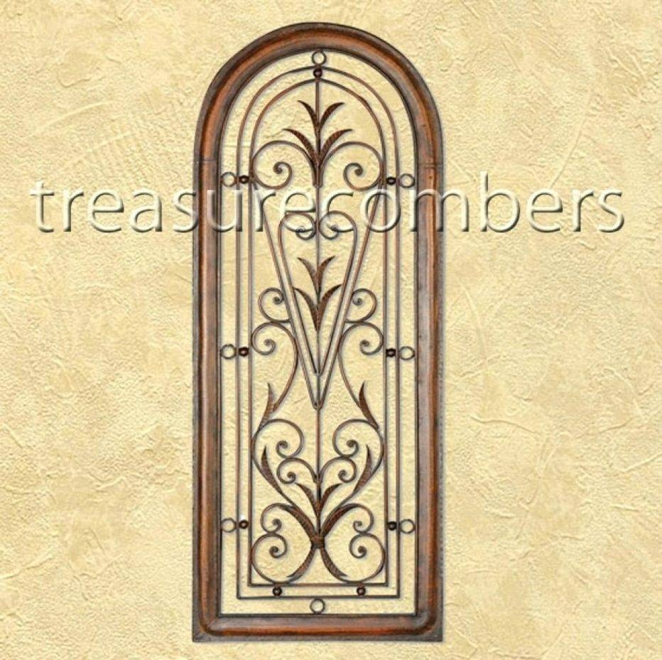 Wall Decor : Appealing Tuscan Earthenware Canvas Wall Art Red Regarding Most Recent Tuscan Wrought Iron Wall Art (View 18 of 20)