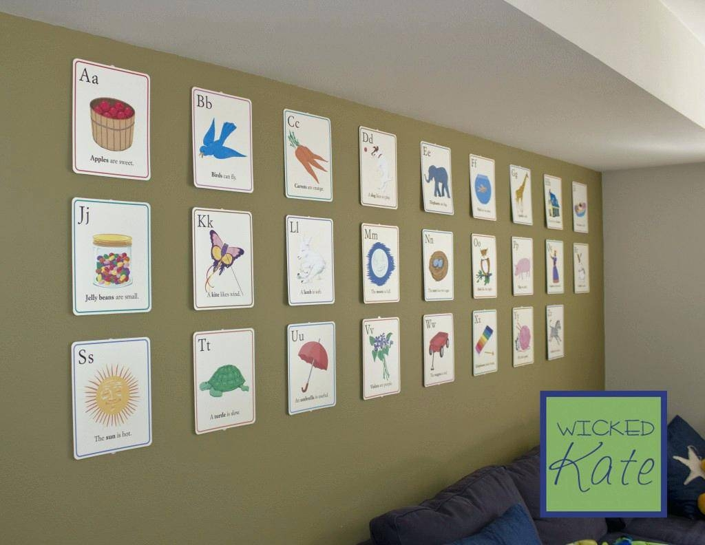 Wall Decor: Awesome Alphabet For Wall Decor Ideas (View 2 of 15)