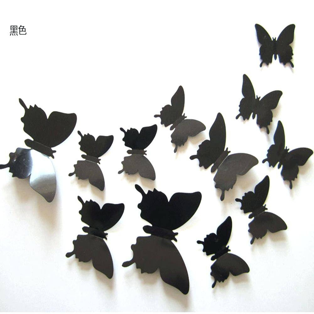 Wall Decor : Awesome Butterfly Wall Art Pop Up Black Butterflies With 2018 3d Butterfly Wall Art (View 17 of 20)