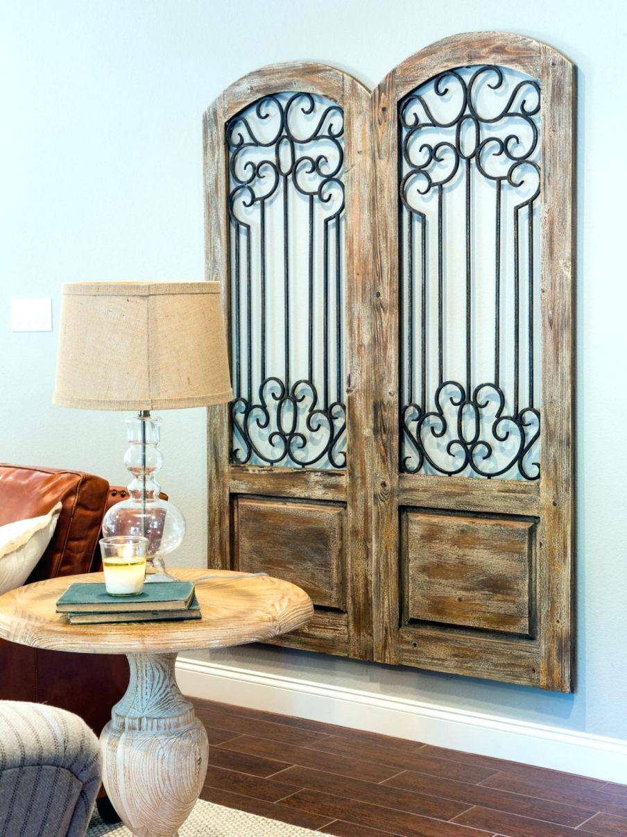 Wall Decor : Awesome Wall Art Decor Metalmetal Rustic Wall With Regard To Most Recently Released Iron Gate Wall Art (View 15 of 25)