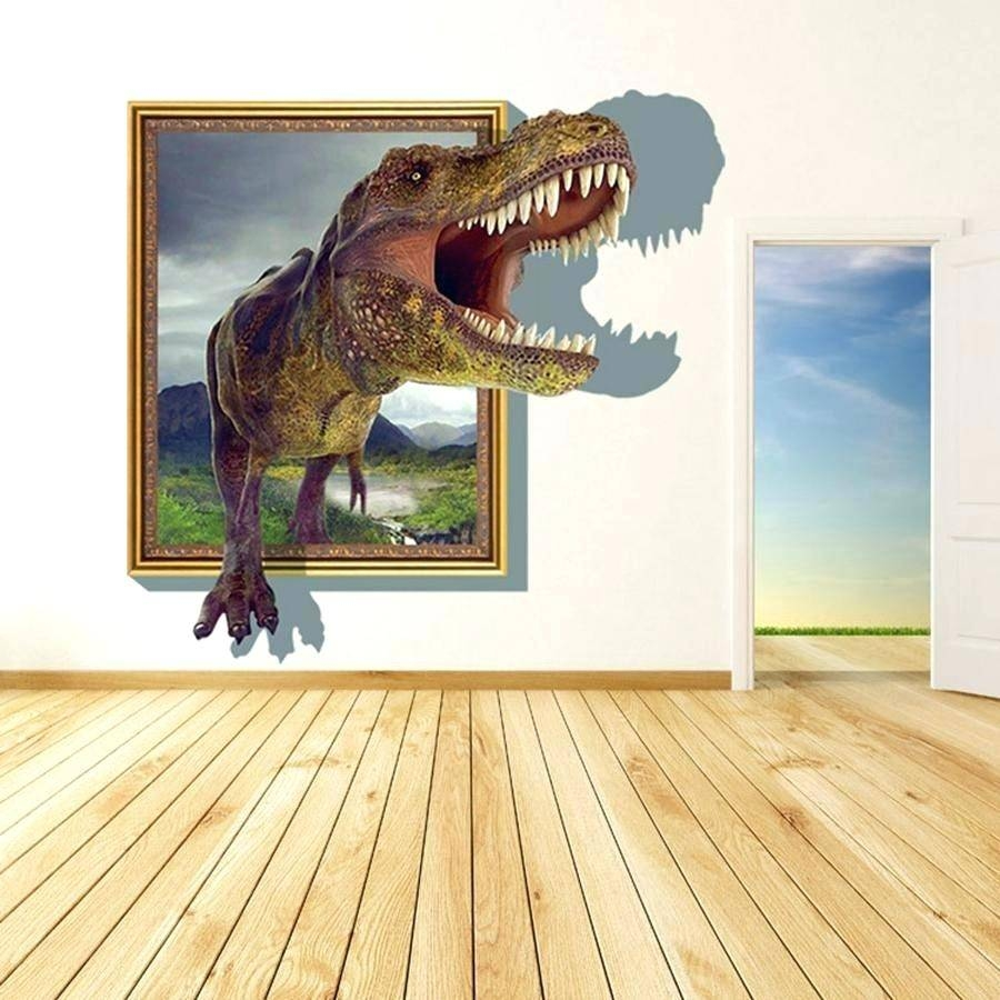 Wall Decor : Brachiosaurus Stegosaurus Dinosaur Set 3D Wall Art For Most Up To Date Beetling Brachiosaurus Dinosaur 3D Wall Art (View 15 of 20)