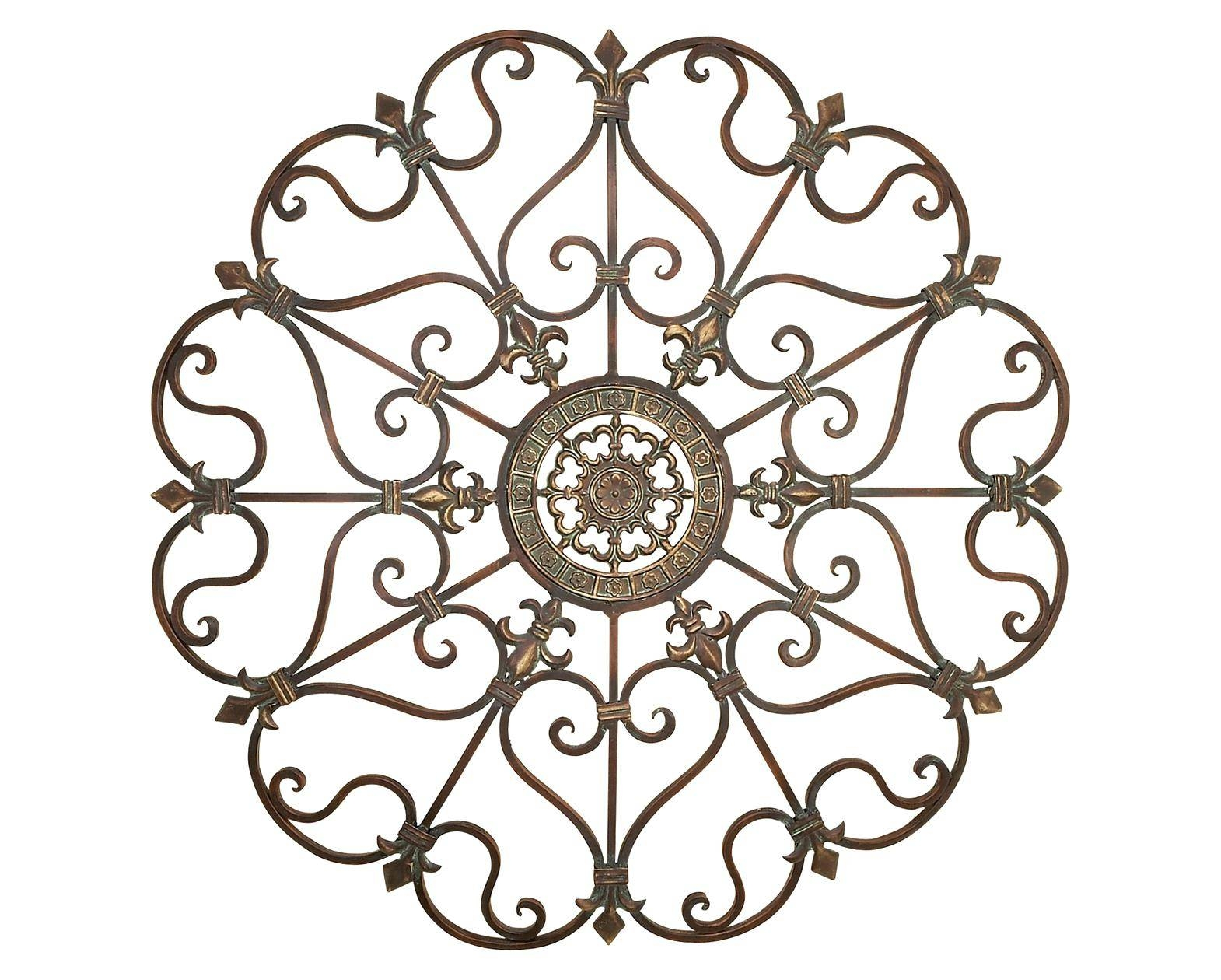 Wall Decor : Bright Wrought Iron Decorative Wall Panels 2 Xl Pertaining To Recent Iron Gate Wall Art (View 11 of 25)
