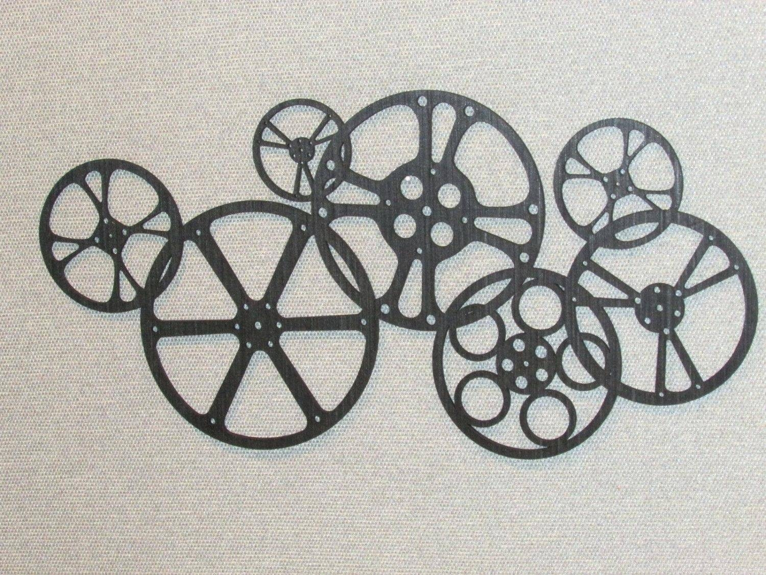 Wall Decor: Charming Film Reel Wall Decor Ideas (View 3 of 30)