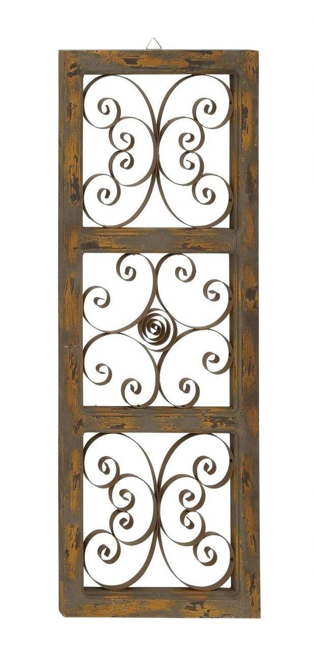 Wall Decor : Chic Large Metal Wood Wall Panel Distressed Wood And For 2017 Metal Gate Wall Art (View 14 of 32)