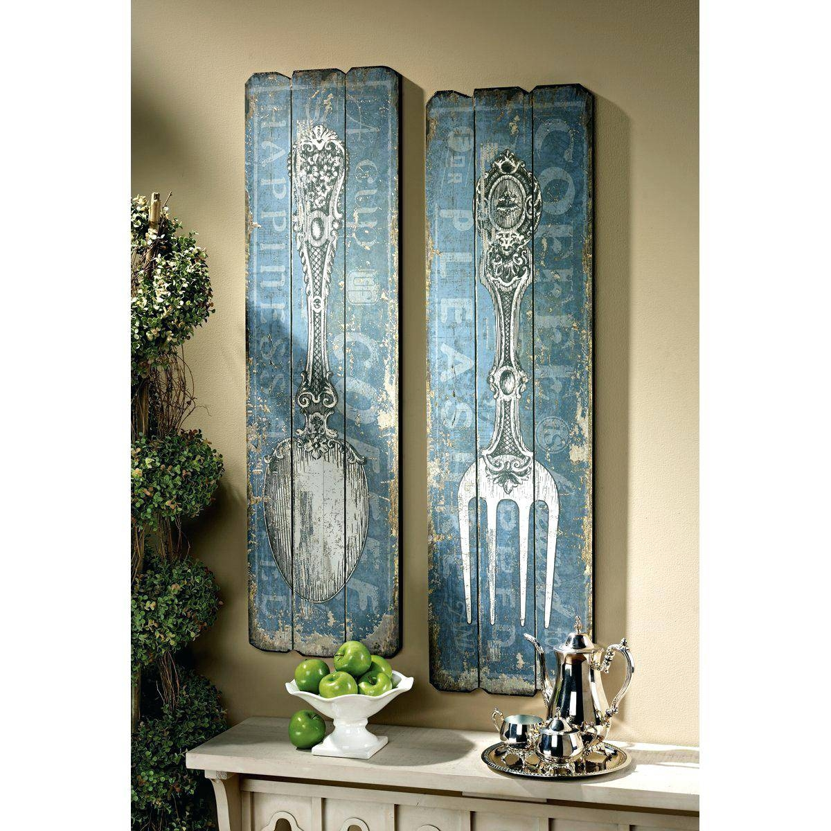 Wall Decor: Chic Large Spoon Wall Decor For Your House (View 17 of 25)