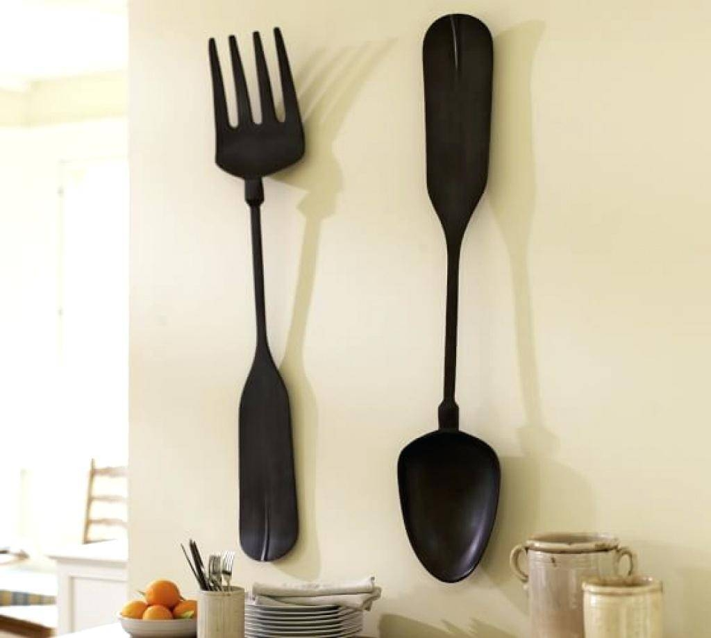 Wall Decor: Chic Spoon Fork Wall Decor For Home Design (View 17 of 20)