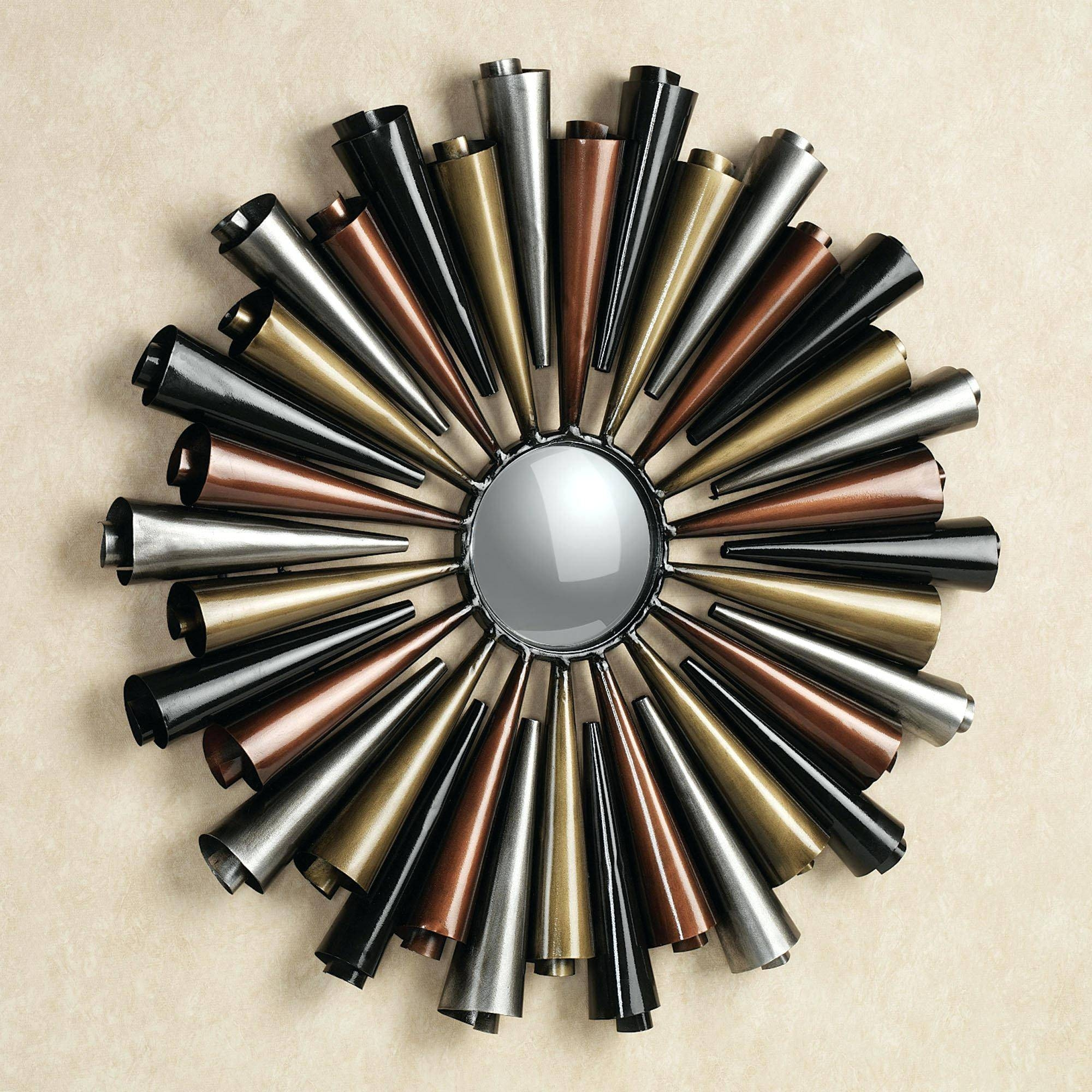 Wall Decor: Compact Iron Mirror Wall Decor Pictures (View 13 of 15)