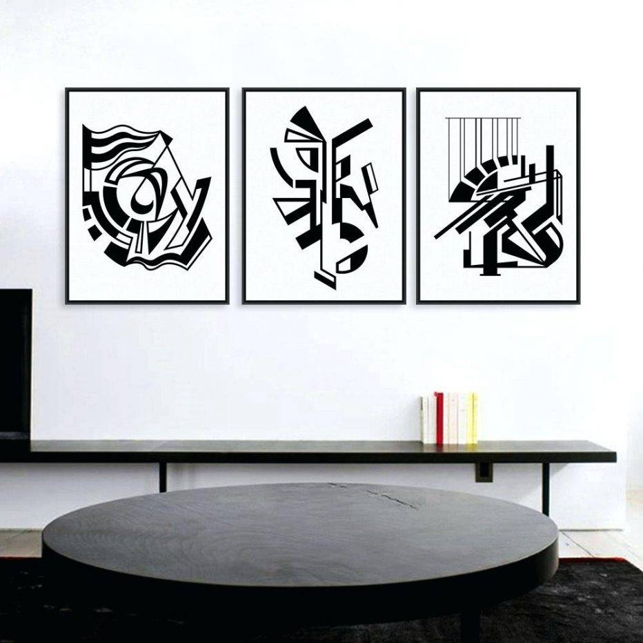 Wall Decor : Cool 4 Piece Canvas Wall Art Thunderstorm Artwork Pertaining To Most Popular Large Black And White Wall Art (Gallery 16 of 20)