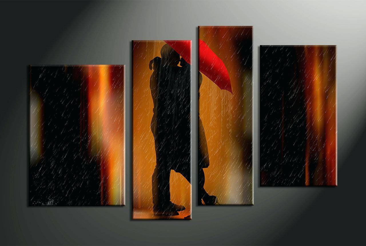 Wall Decor : Cool 4 Piece Canvas Wall Art Thunderstorm Artwork With Regard To Most Up To Date Multiple Piece Canvas Wall Art (Gallery 16 of 25)