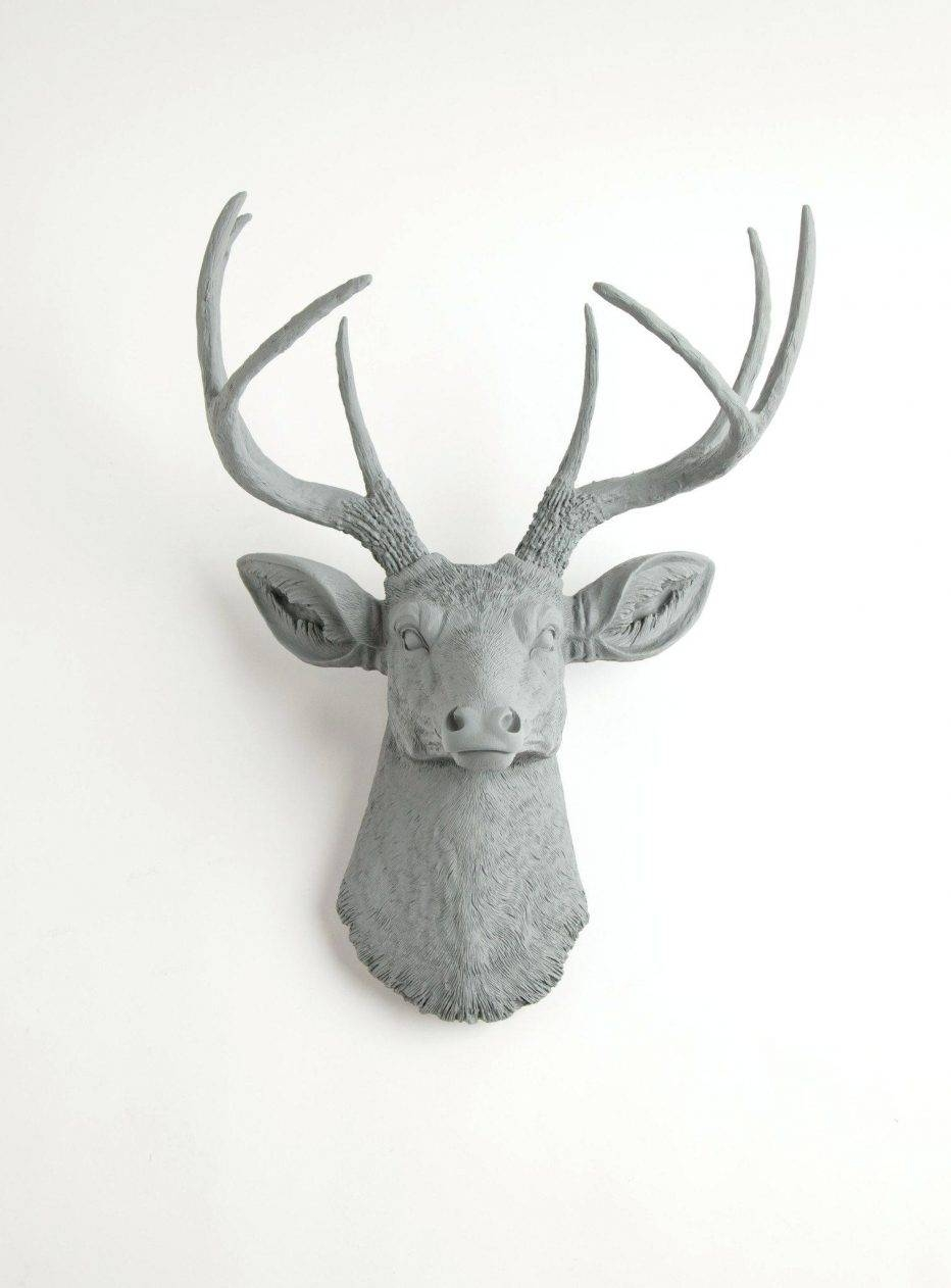 Wall Decor : Deer Head Wall Art Australia Awesome Gray Wall Decor In Current Stag Head Wall Art (View 17 of 20)