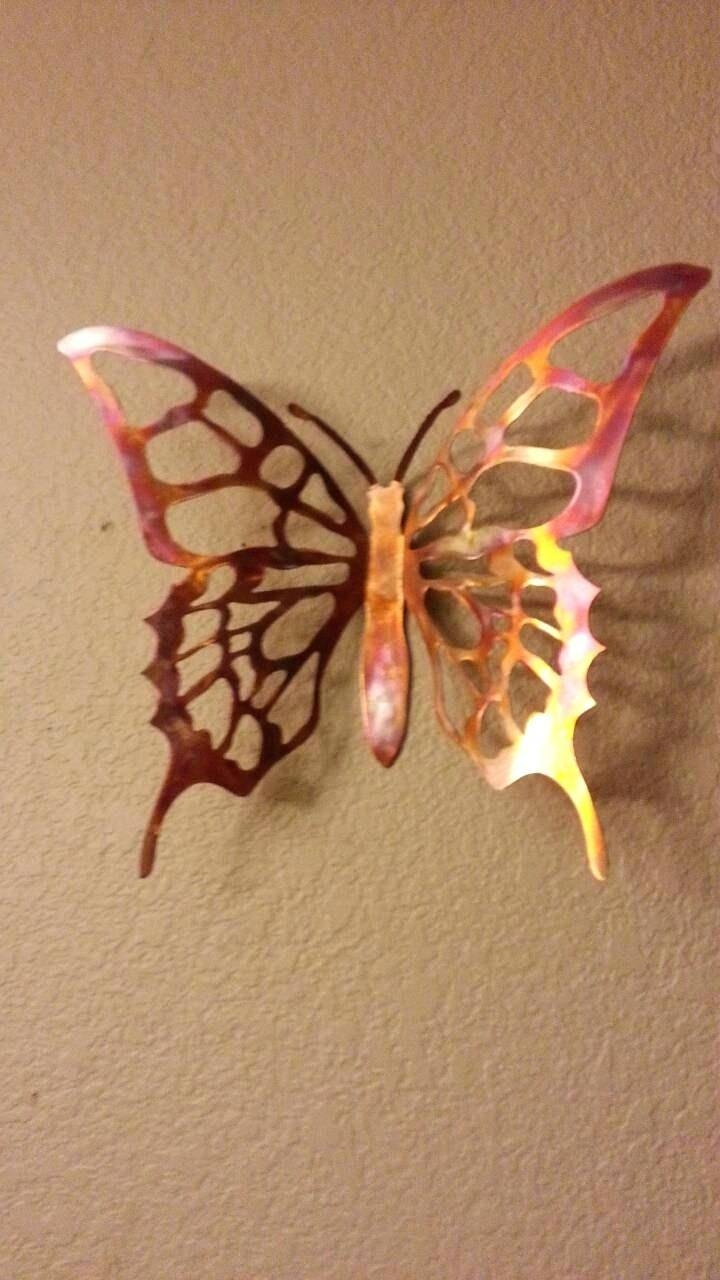Wall Decor : Enchanting Fascinating Gold Metal Butterfly Wall Regarding Most Up To Date Large Metal Butterfly Wall Art (View 15 of 25)