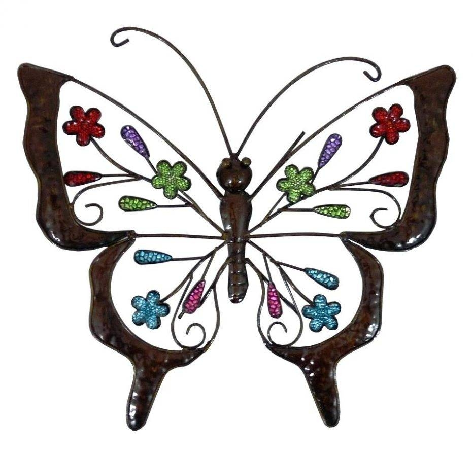Wall Decor: Enchanting Metal Butterflies Wall Decor For Your House With Regard To Newest Large Metal Butterfly Wall Art (View 12 of 25)