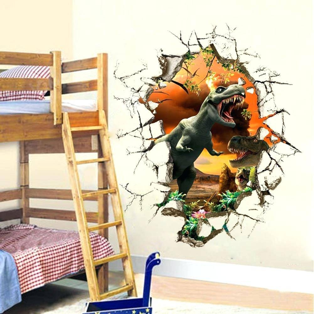 Wall Decor: Excellent Dinosaur Wall Decor For Inspirations Throughout Most Up To Date 3D Dinosaur Wall Art Decor (View 18 of 20)