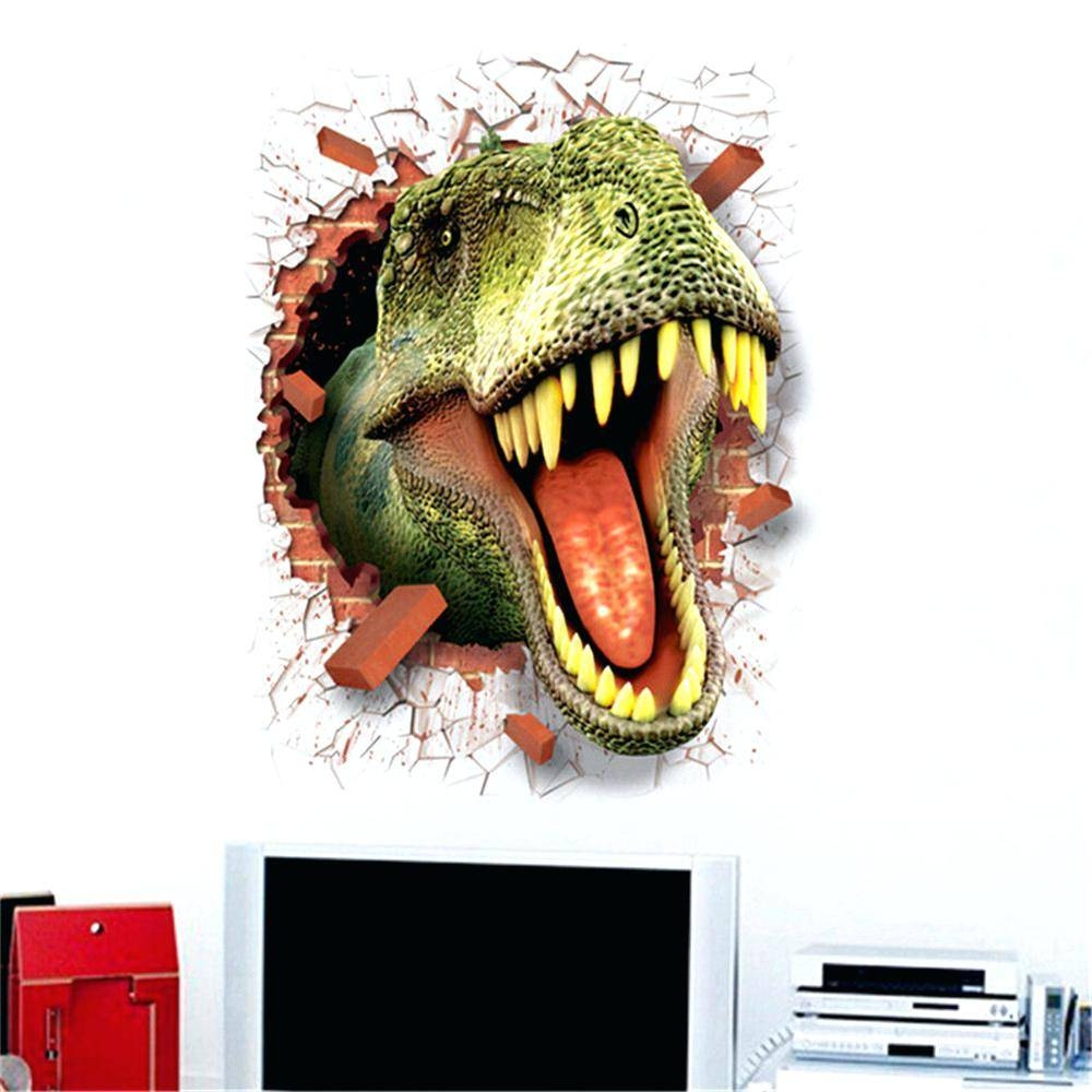 Wall Decor: Excellent Dinosaur Wall Decor For Inspirations With Most Popular 3D Dinosaur Wall Art Decor (View 19 of 20)