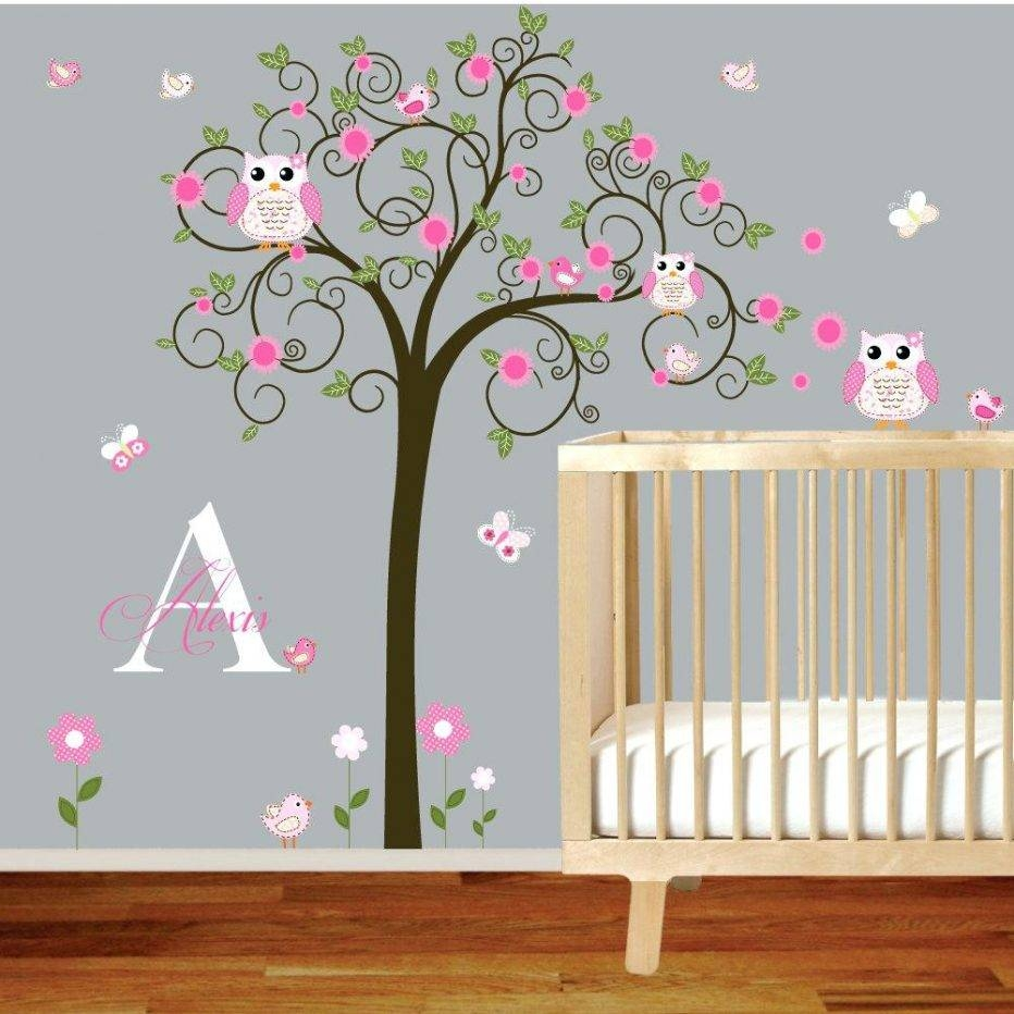 Wall Decor : Excellent Hot 3d Heart Tree Butterfly Wall Decals Throughout Best And Newest 3d Wall Art For Baby Nursery (View 17 of 20)