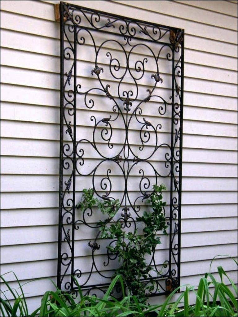 Wall Decor: Gorgeous Garden Wall Decor Wrought Iron Design (View 21 of 25)