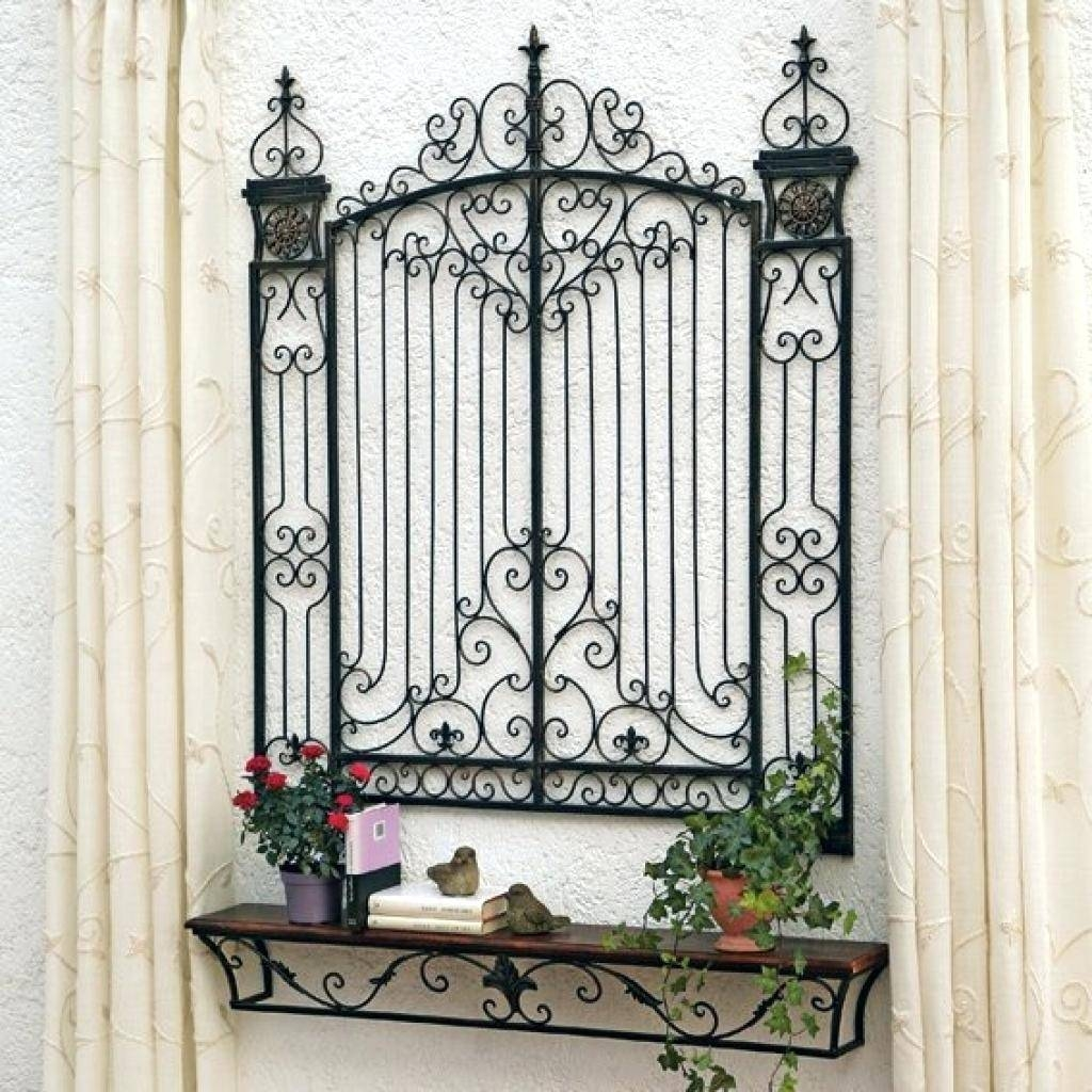 Wall Decor: Gorgeous Wrought Iron Gate Wall Decor For Inspirations Pertaining To 2017 Metal Gate Wall Art (View 18 of 32)