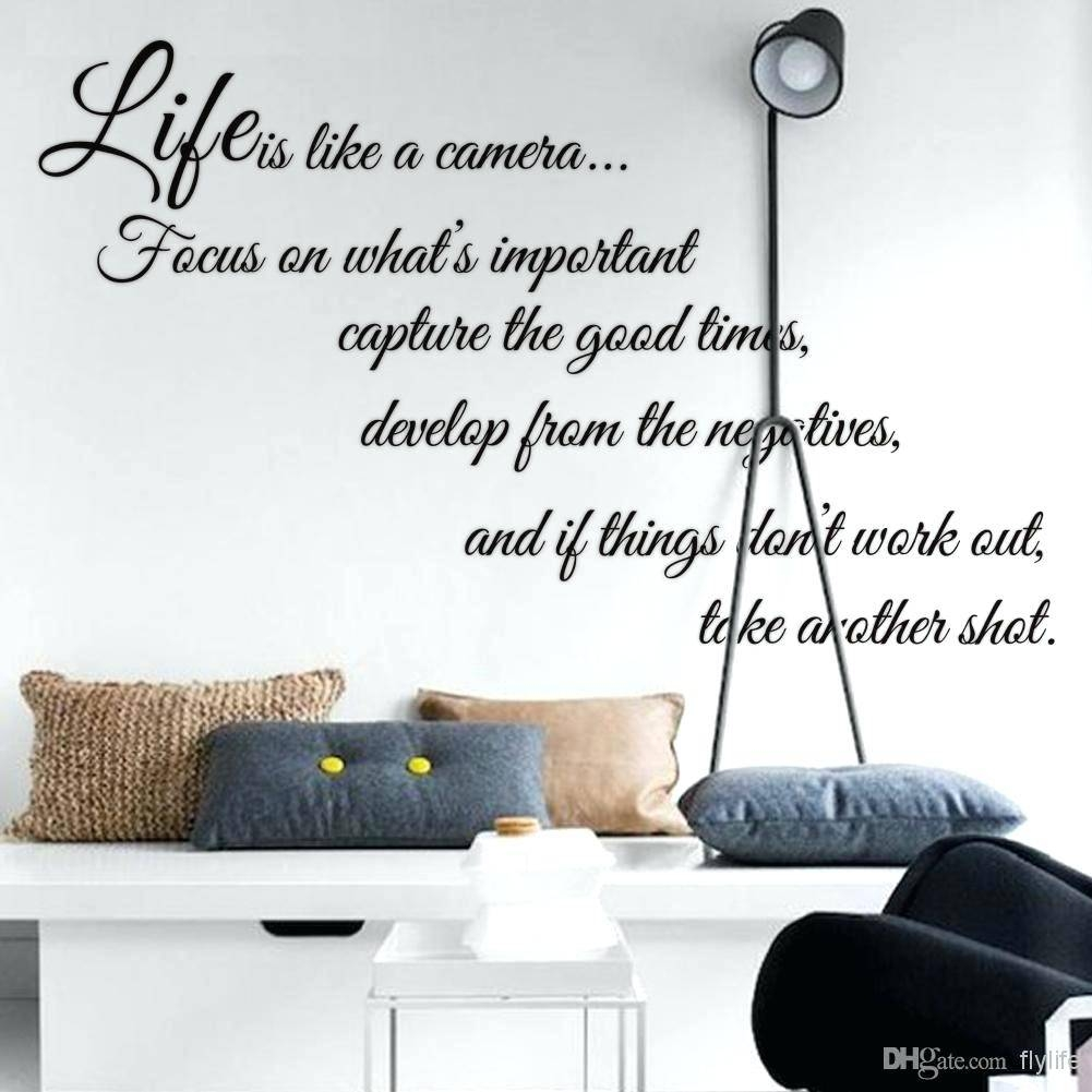 Wall Decor : Life Goes On Quote Vinyl Wall Art Stickers Decal Inside Most Popular Life Is Good Wall Art (View 21 of 30)
