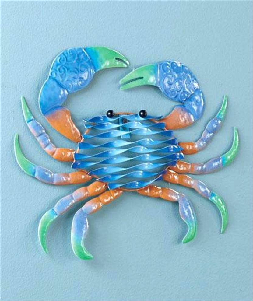 Wall Decor : Metal Handicraft Look Sealife Seahorse Octopus Crab With 2018 Vibrant Wall Art (View 20 of 20)