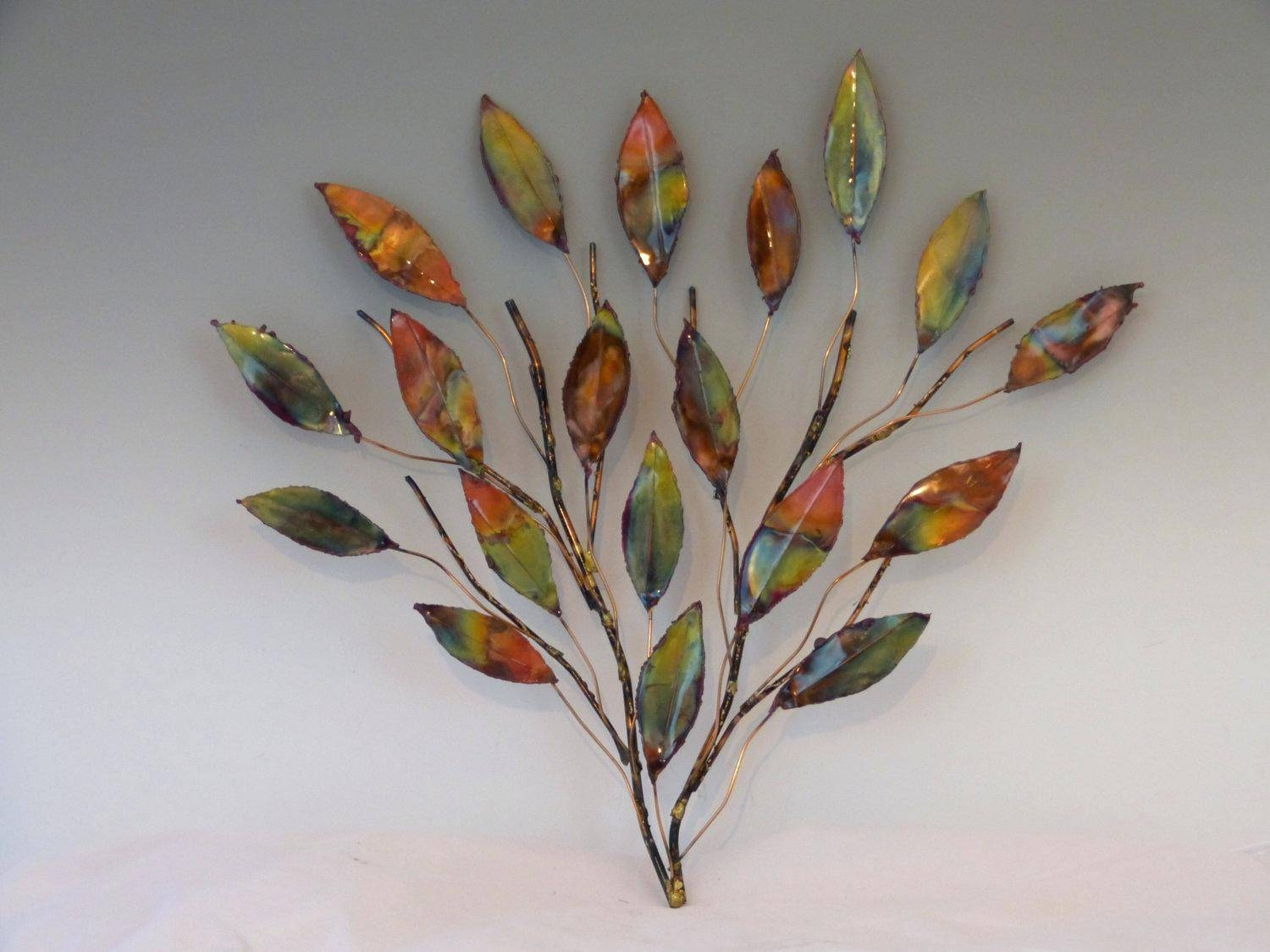 Wall Decor : Metal Leaf Branch Wall Decor 150 Palm Leaves Wall With Most Recent Palm Leaf Wall Decor (View 22 of 25)
