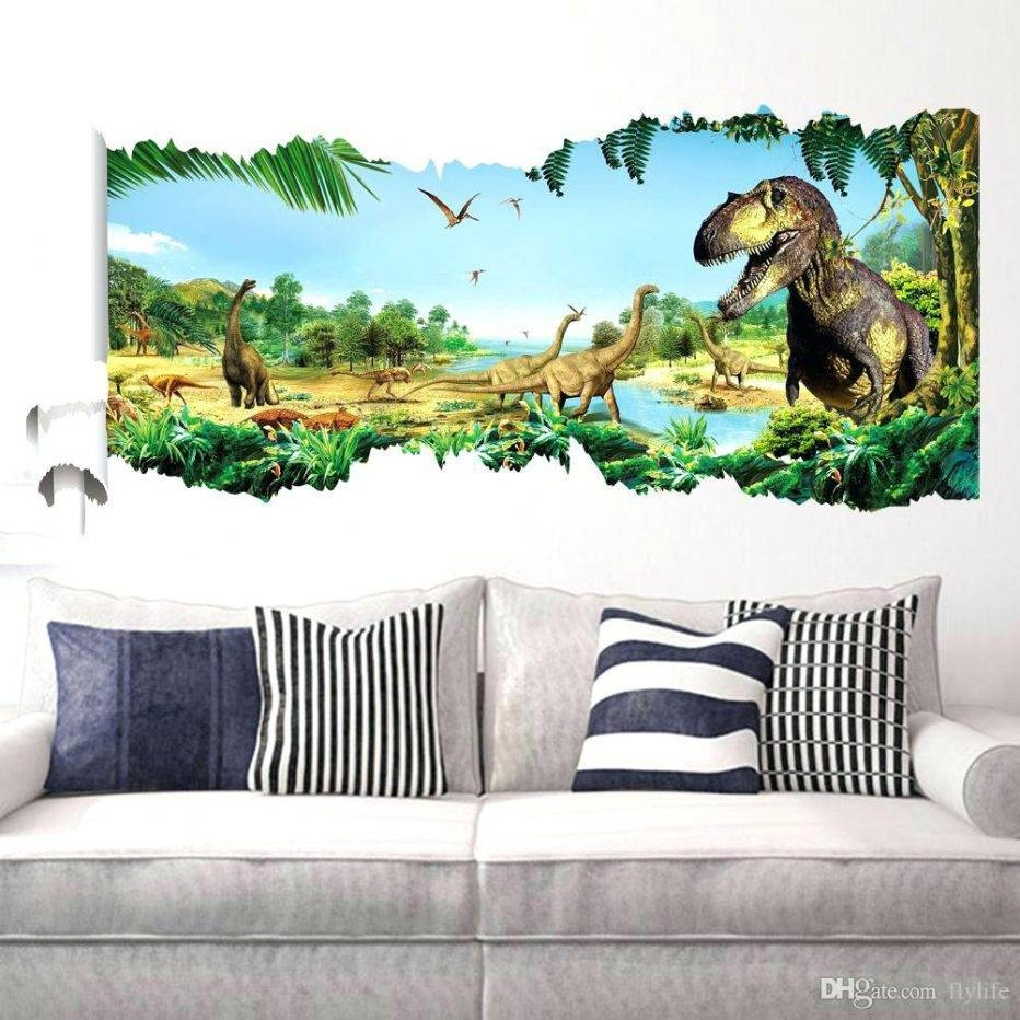 Wall Decor : Modern Dinosaur Eyes 3D Wall Stickers Creative Pertaining To Current Beetling Brachiosaurus Dinosaur 3D Wall Art (View 19 of 20)
