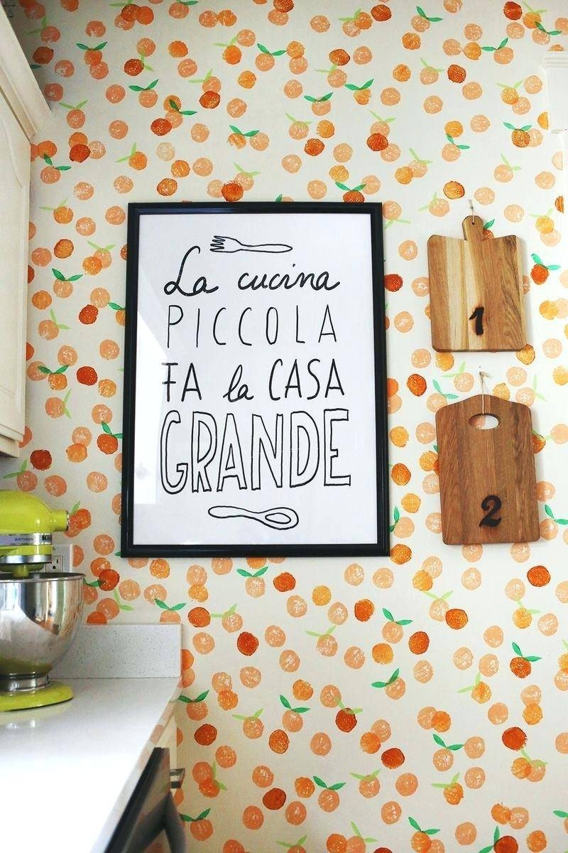 Wall Decor : Modern Hand Stamped Clementine Wall And La Cucina In Current Cucina Wall Art Decors (View 8 of 25)