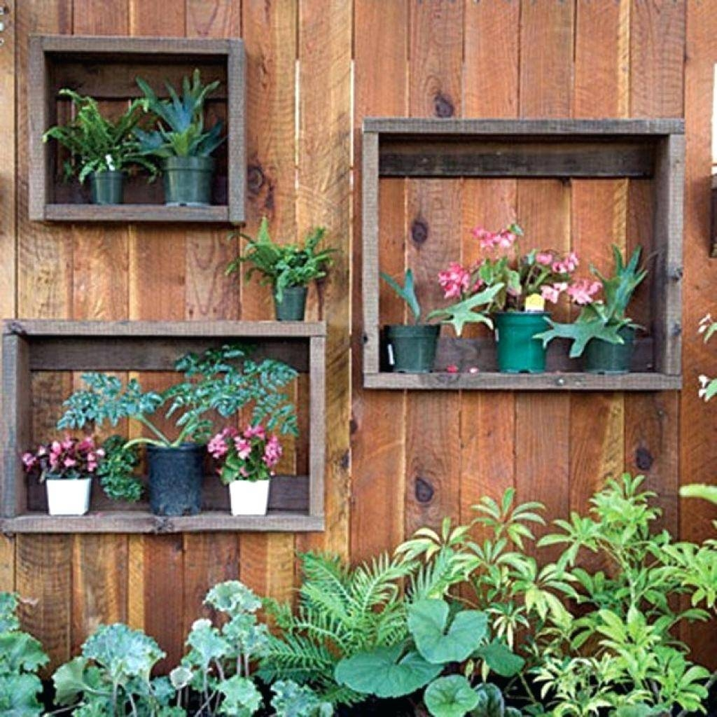 Wall Decor : Outdoor Wall Art Ideas S M L F Source Wall Decorating Pertaining To Best And Newest Diy Garden Wall Art (View 3 of 25)