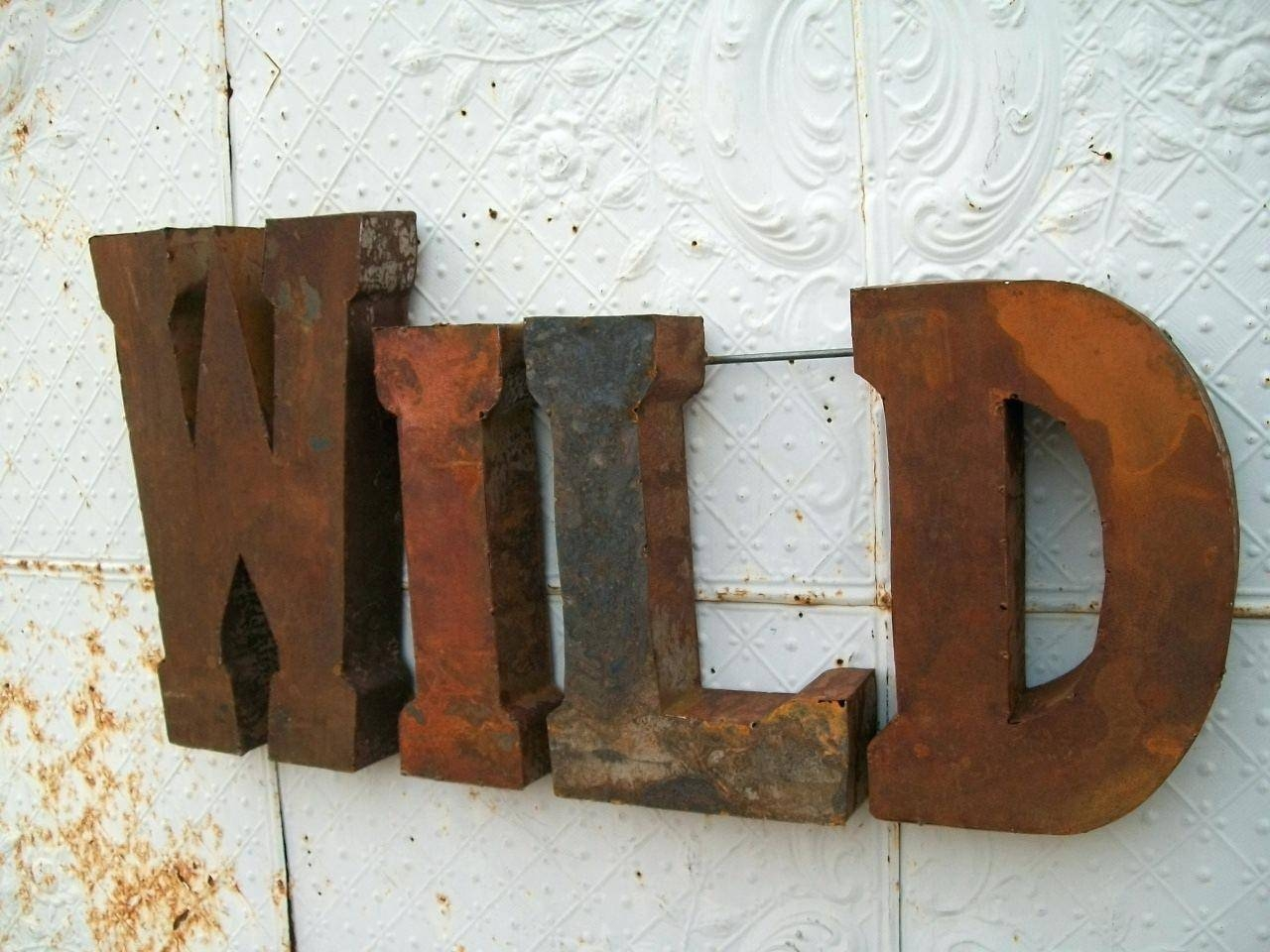 Wall Decor : Outstanding Rustic 37 3D Metal Wild Sign Trade Sign With Latest 3D Metal Wall Art (View 19 of 20)