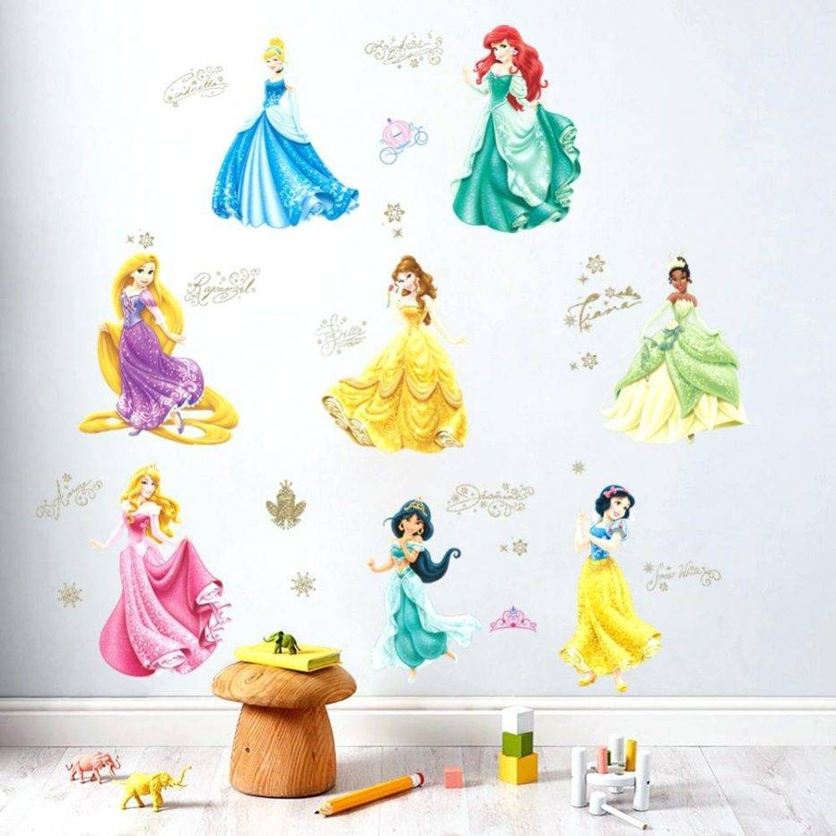 Wall Decor : Removable Princess Wall Stickers For Nursery Room Inside Most Recent 3d Princess Crown Wall Art Decor (View 11 of 20)