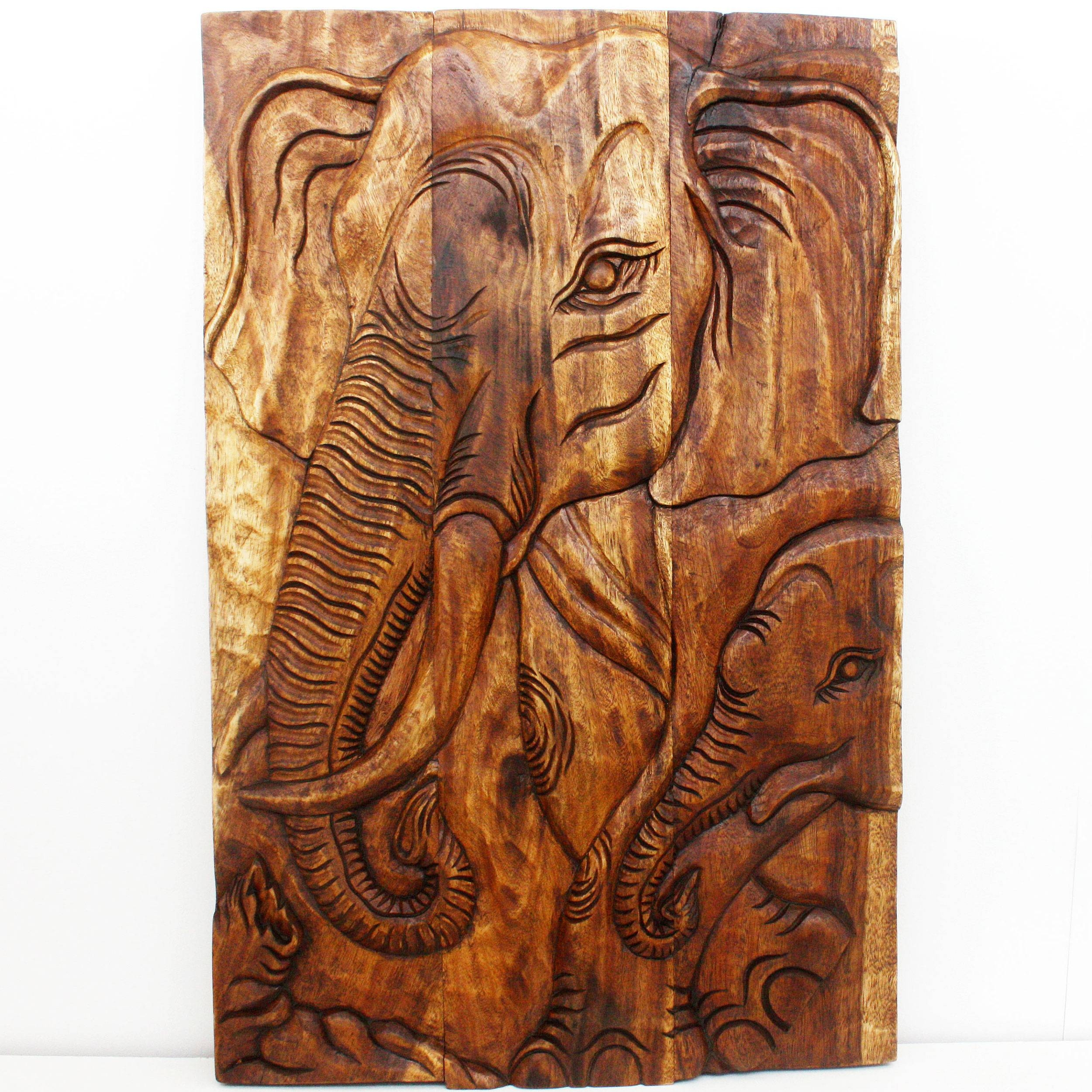 Wall Decor Thailand Wood Art Panels Nature Carvings Regarding Most Current Wood Wall Art Panels (View 16 of 20)