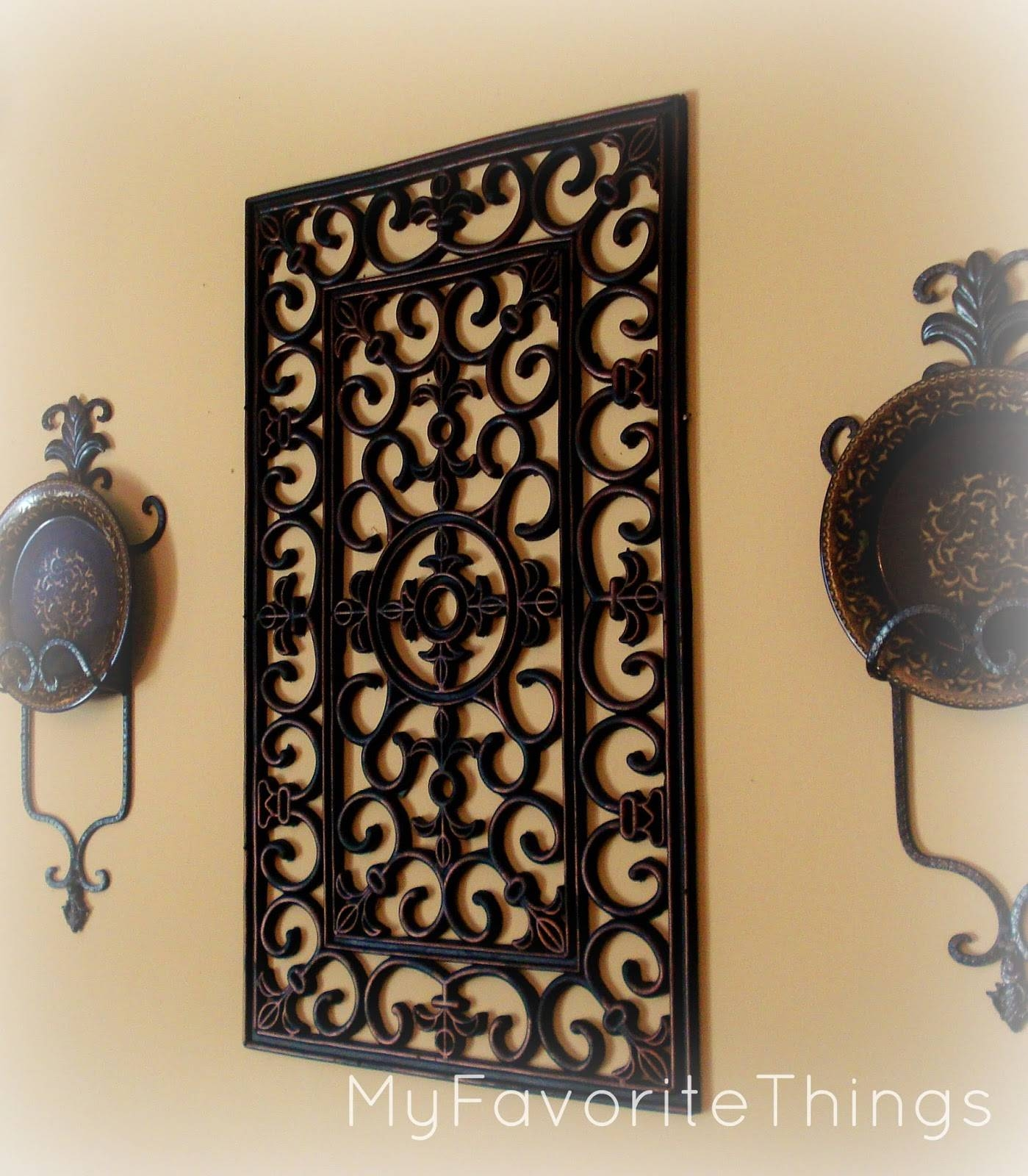 Wall Decor: Top 20 Rustic Wrought Iron Wall Decor How To Hang With Regard To Current Tuscan Wrought Iron Wall Art (View 9 of 20)