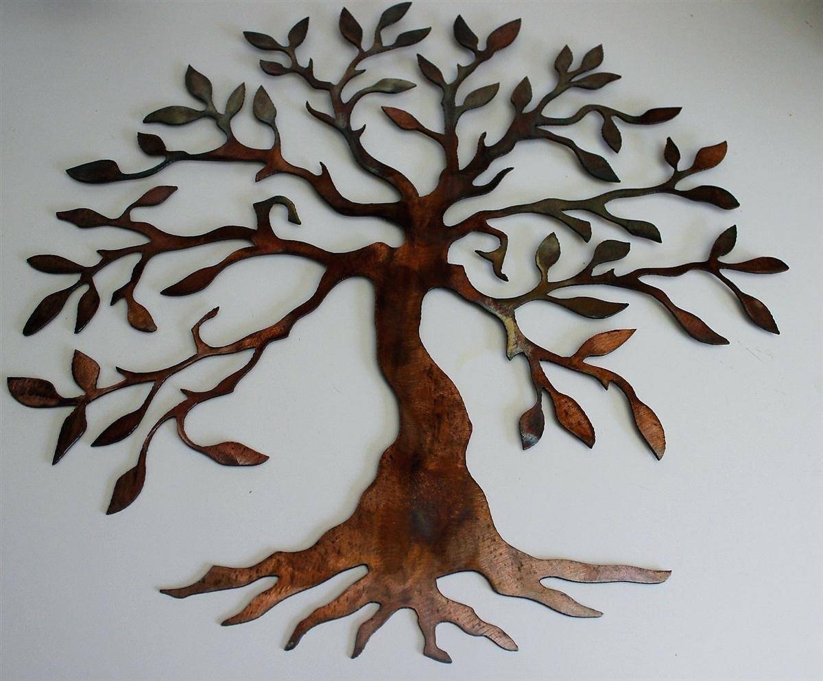Wall Decor : Tree Of Life Organic Haiti Metal Wall Sculpture Inside Recent Metal Tree Wall Art Sculpture (View 17 of 20)