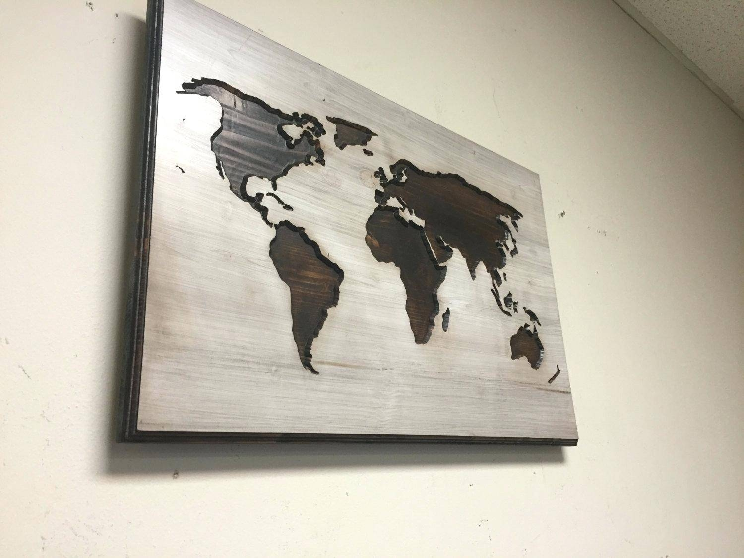 Best of wooden world map wall art