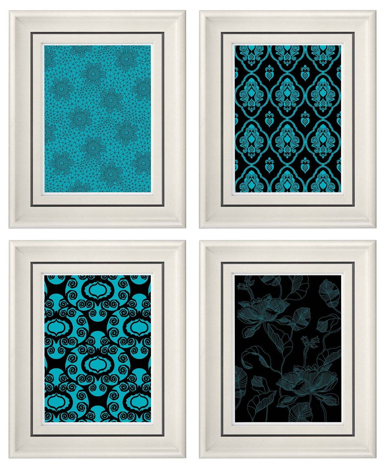 Wall Decor Turquoise – Home Design Pertaining To Best And Newest Turquoise And Black Wall Art (View 2 of 20)