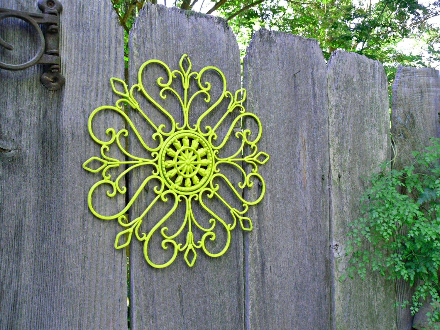 Wall Decor : Wall Art Outdoor Metal Makipera 132 Outside Wall Within Most Popular Lime Green Metal Wall Art (View 3 of 20)