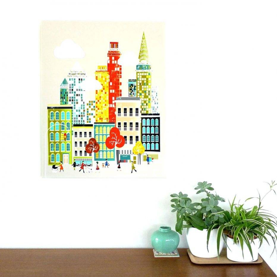Wall Decor : Wall Decor Canvas Prints New York Cityscape Canvas Within Most Popular Cityscape Canvas Wall Art (View 12 of 20)